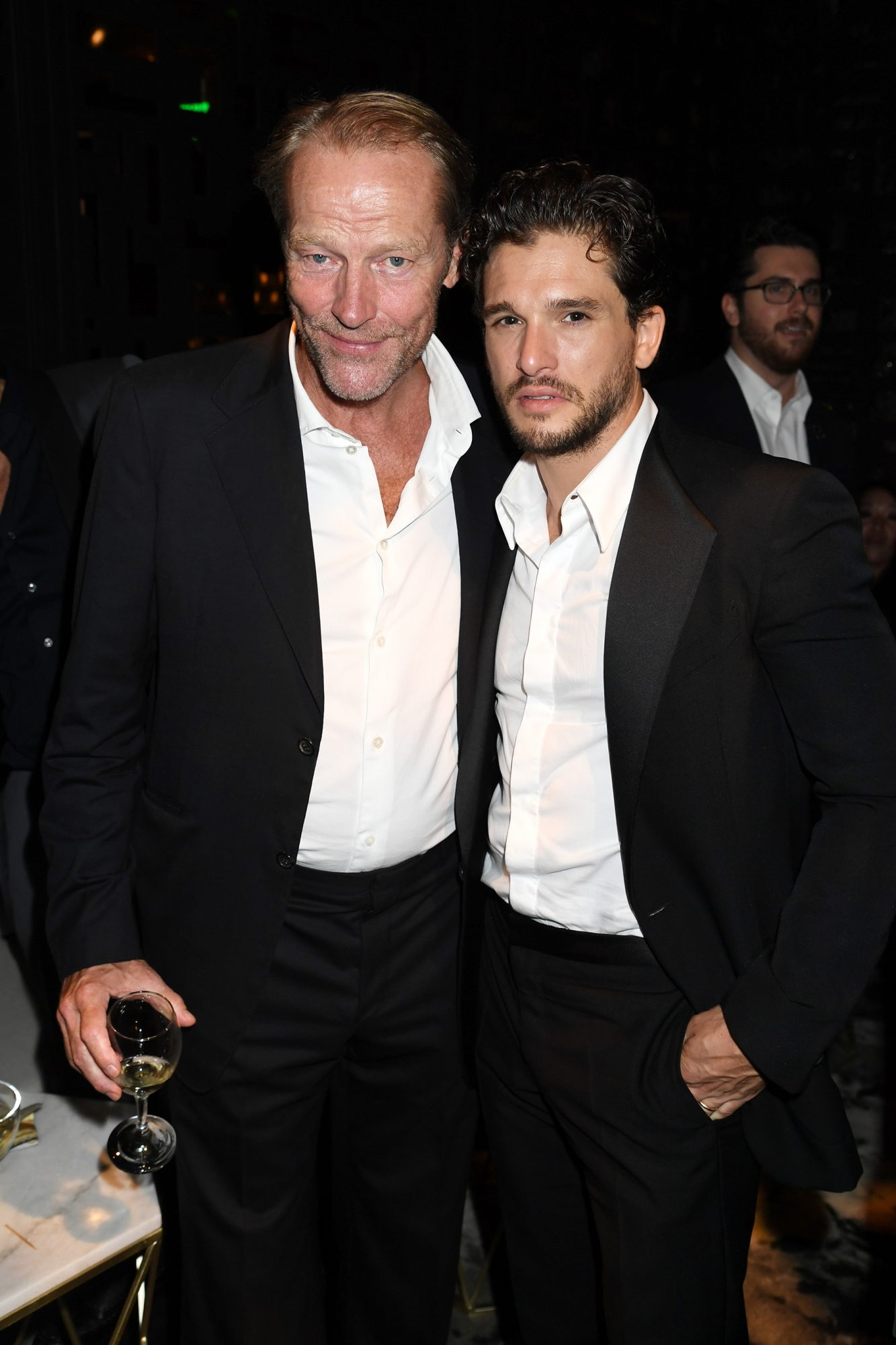 Iain Glen and Kit Harington
