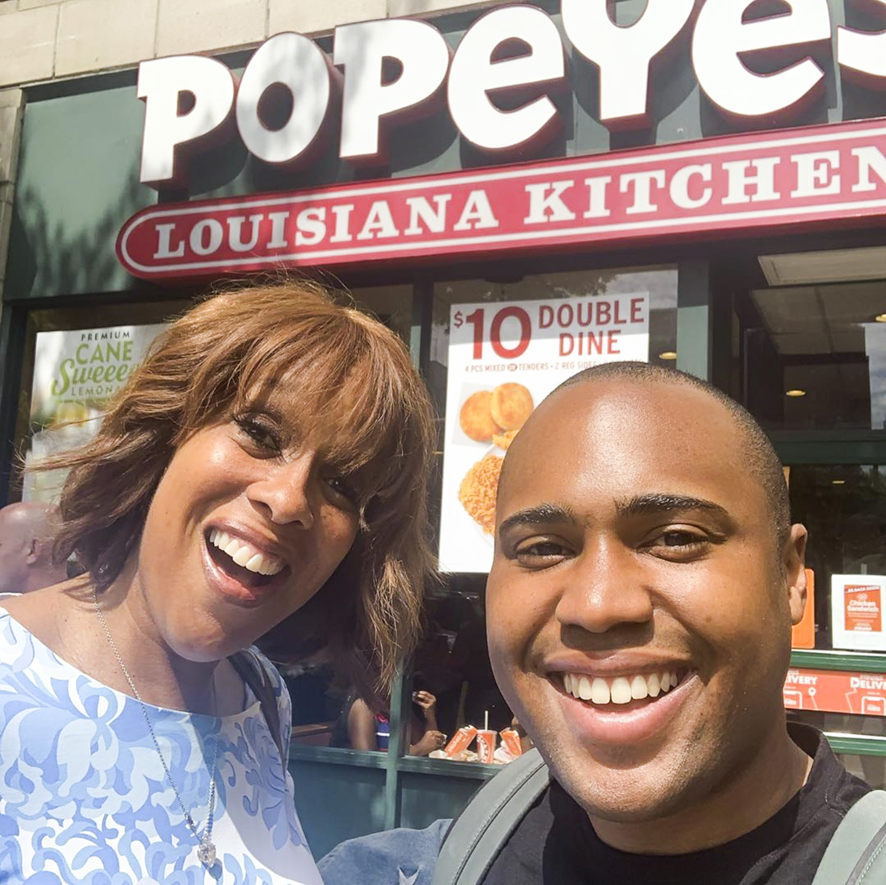 Gayle King at Popeyes CR: Gayle King/Instagram