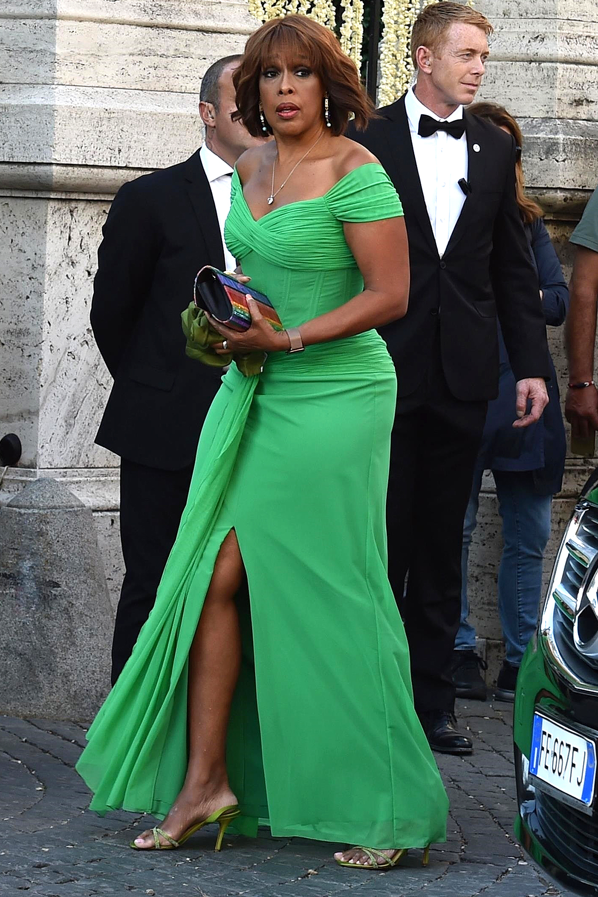 Gayle King and other guests arrive at Misha Nonoo's wedding in Rome, Italy