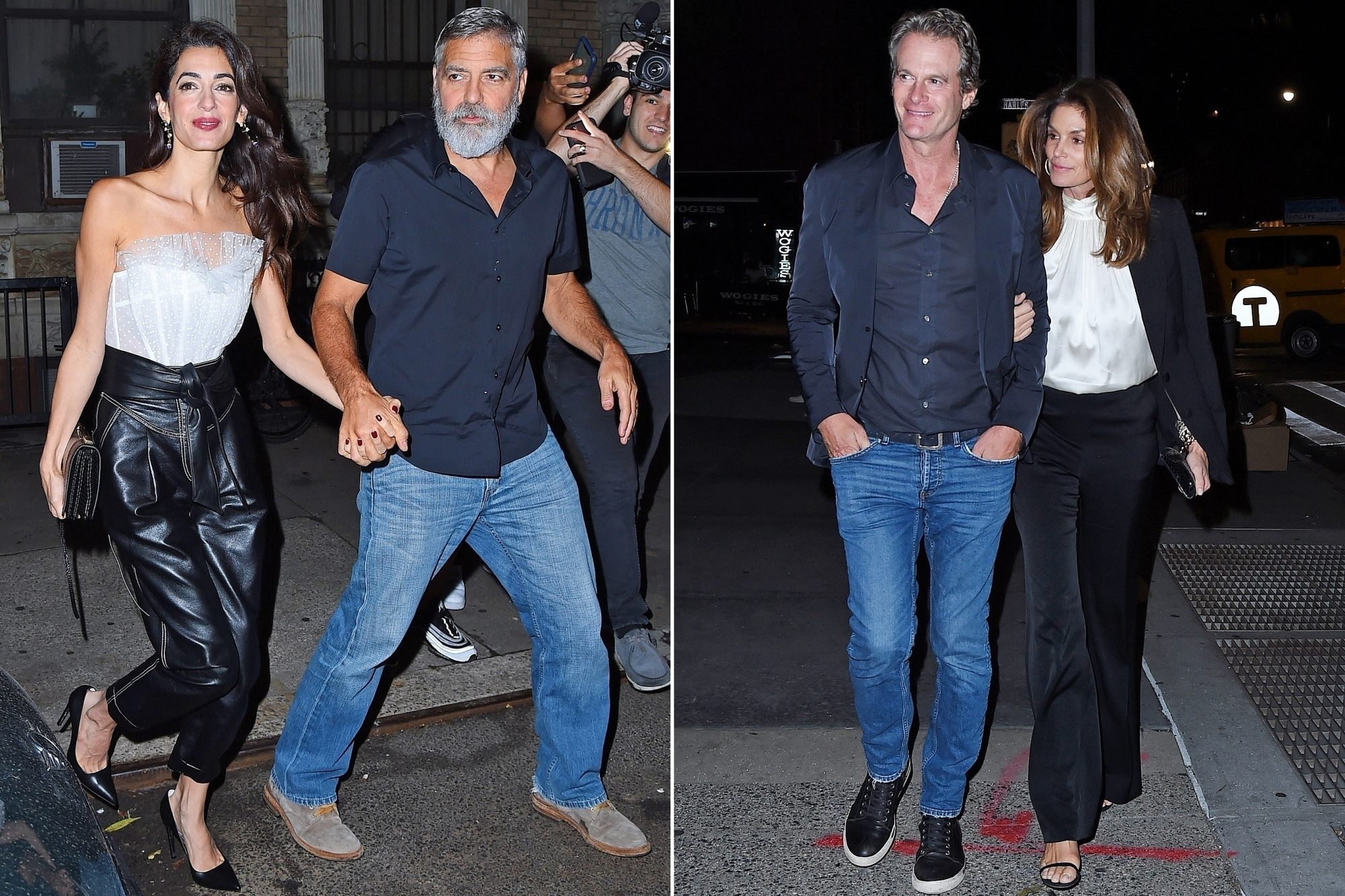 George and Amal Clooney, Cindy Crawford and Randy Gerber