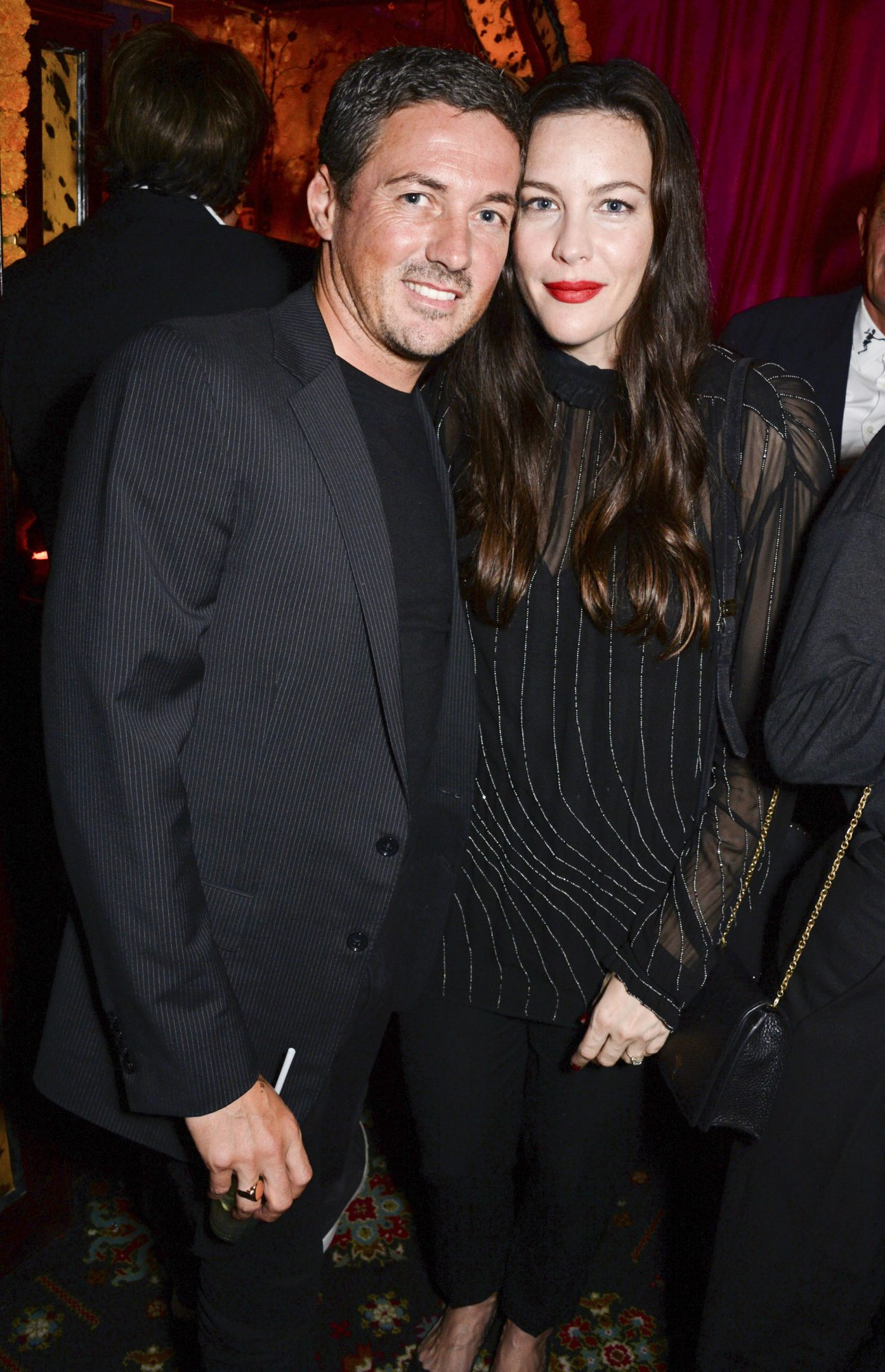 LONDON, ENGLAND - SEPTEMBER 17: Dave Gardner and Liv Tyler attends the LOVE Magazine 10th birthday party with Perrier-Jouet at Loulou's on September 17, 2018 in London, England. (Photo by David M. Benett/Dave Benett/Getty Images for LOVE Magazine/Conde Nast)