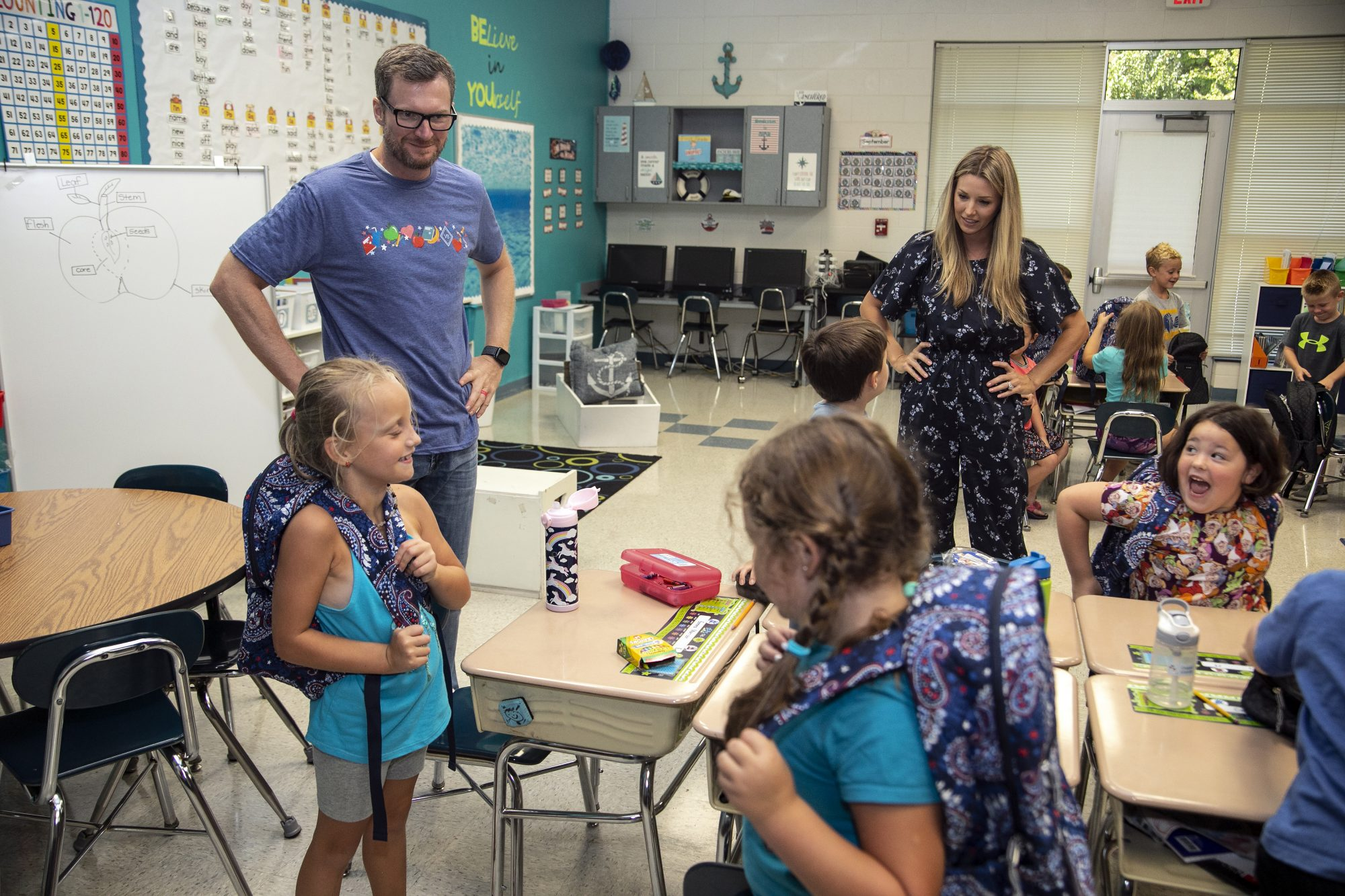 Vera Bradley x Blessings In A Backpack Event With Dale & Amy Earnhardt
