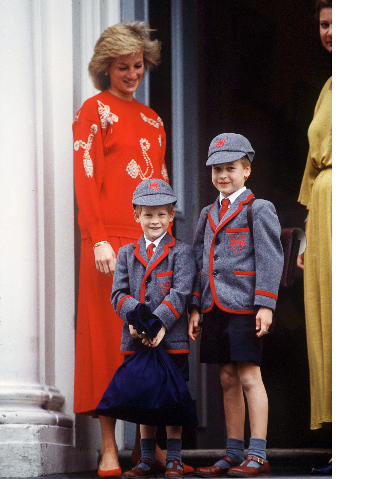 Diana, William And Harry School