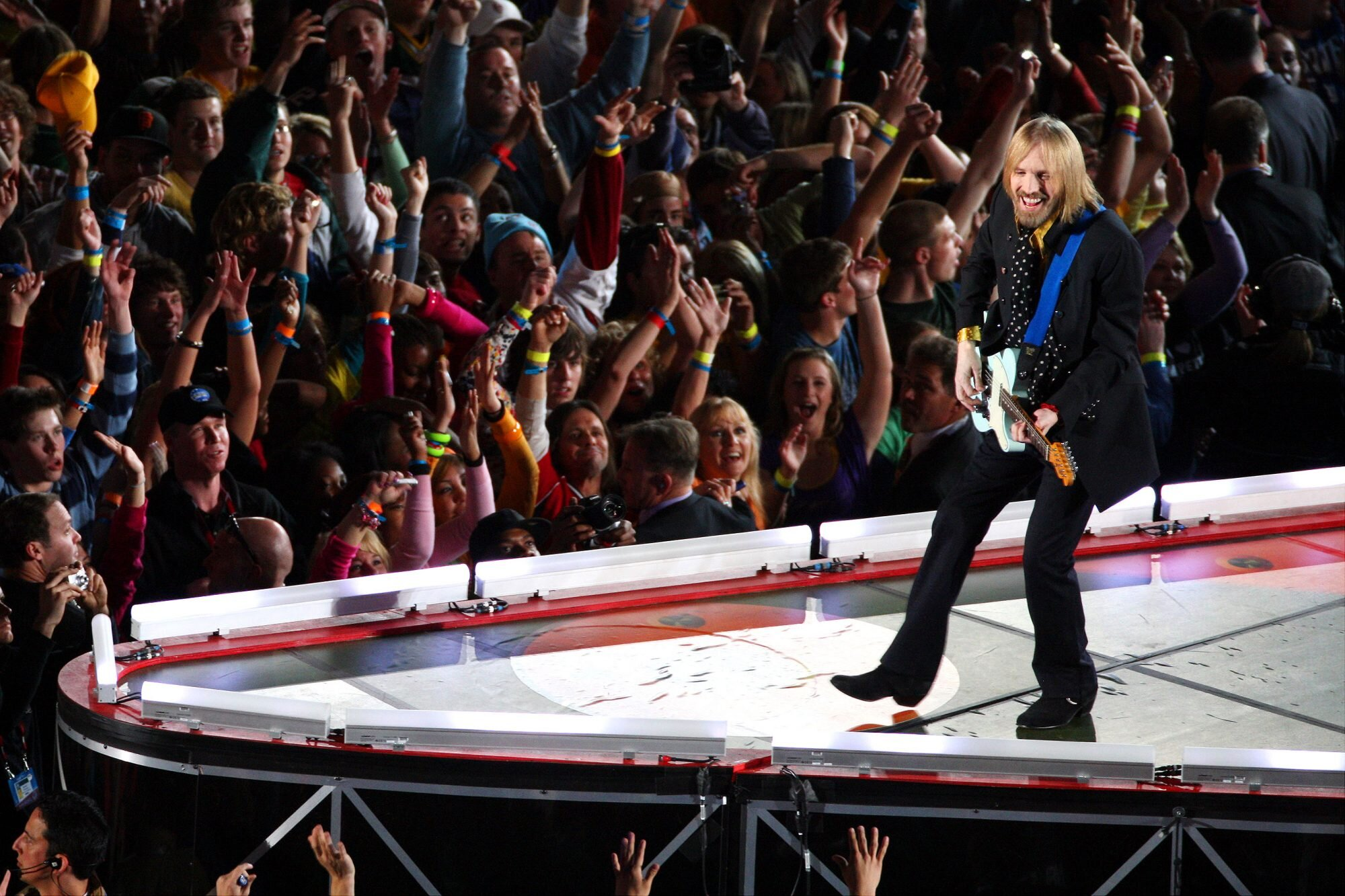 Tom Petty performs with his band Tom Petty and the Heartbrea