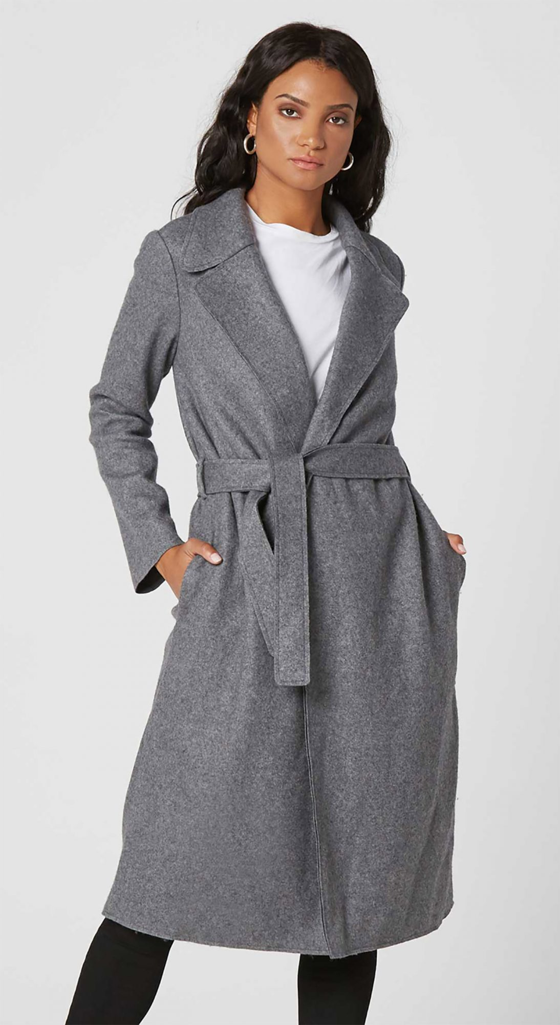 Womens Wool Blanket Maxi Coat from DSTLD