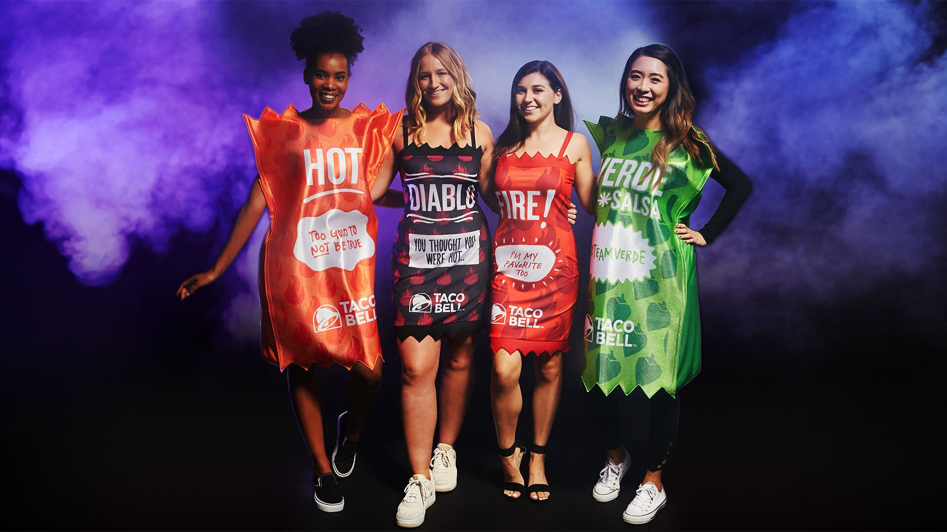 4 People Halloween Costumes.Taco Bell Has A New Halloween Costume Collection People Com