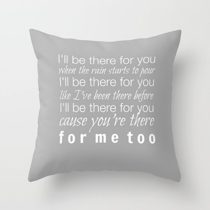 The One With the Theme Song Pillow