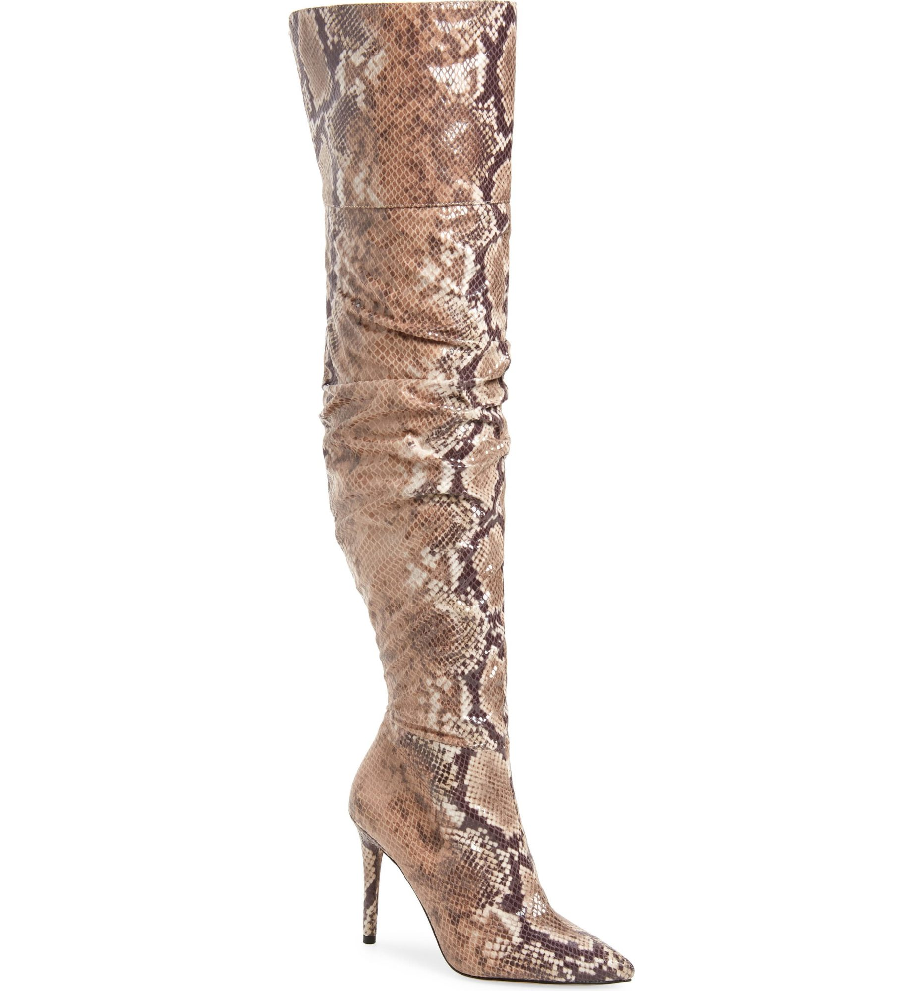jessica simpson snake print slouchy over the knee boot nordstrom sale