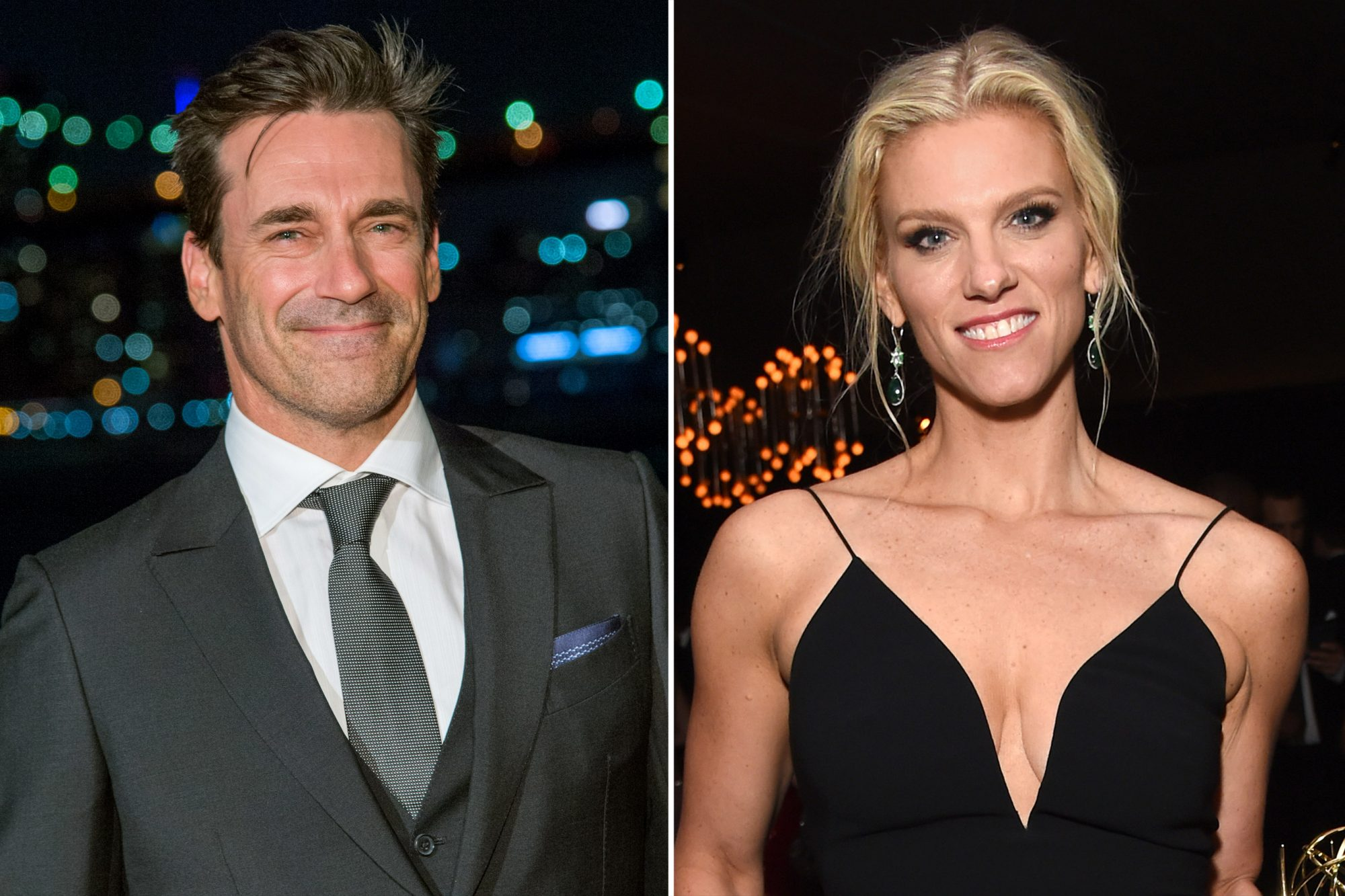 Jon Hamm and Lindsay Shookus