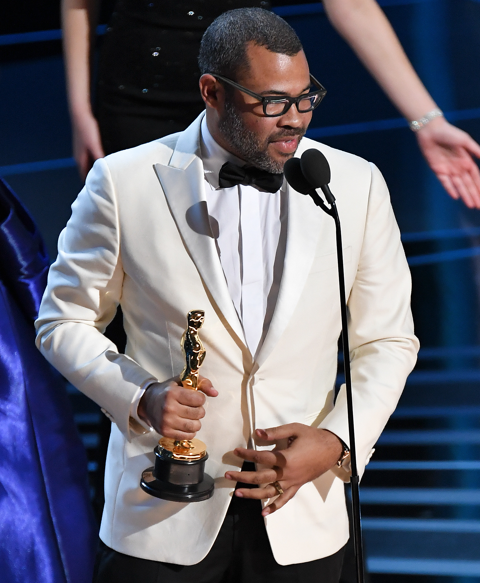Jordan Peele Had His Oscar Displayed Across from the Get Out Chair