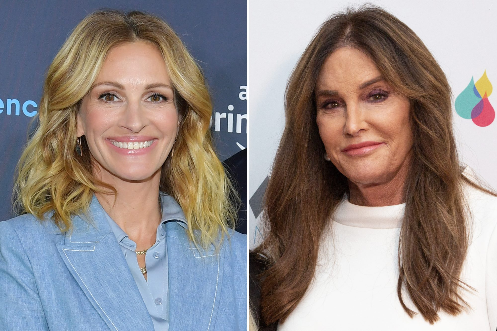 Julia Roberts and Caitlyn Jenner
