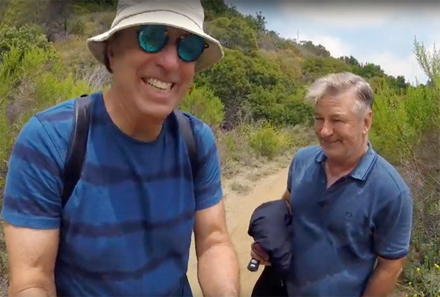 hiking with kevin; alec baldwin