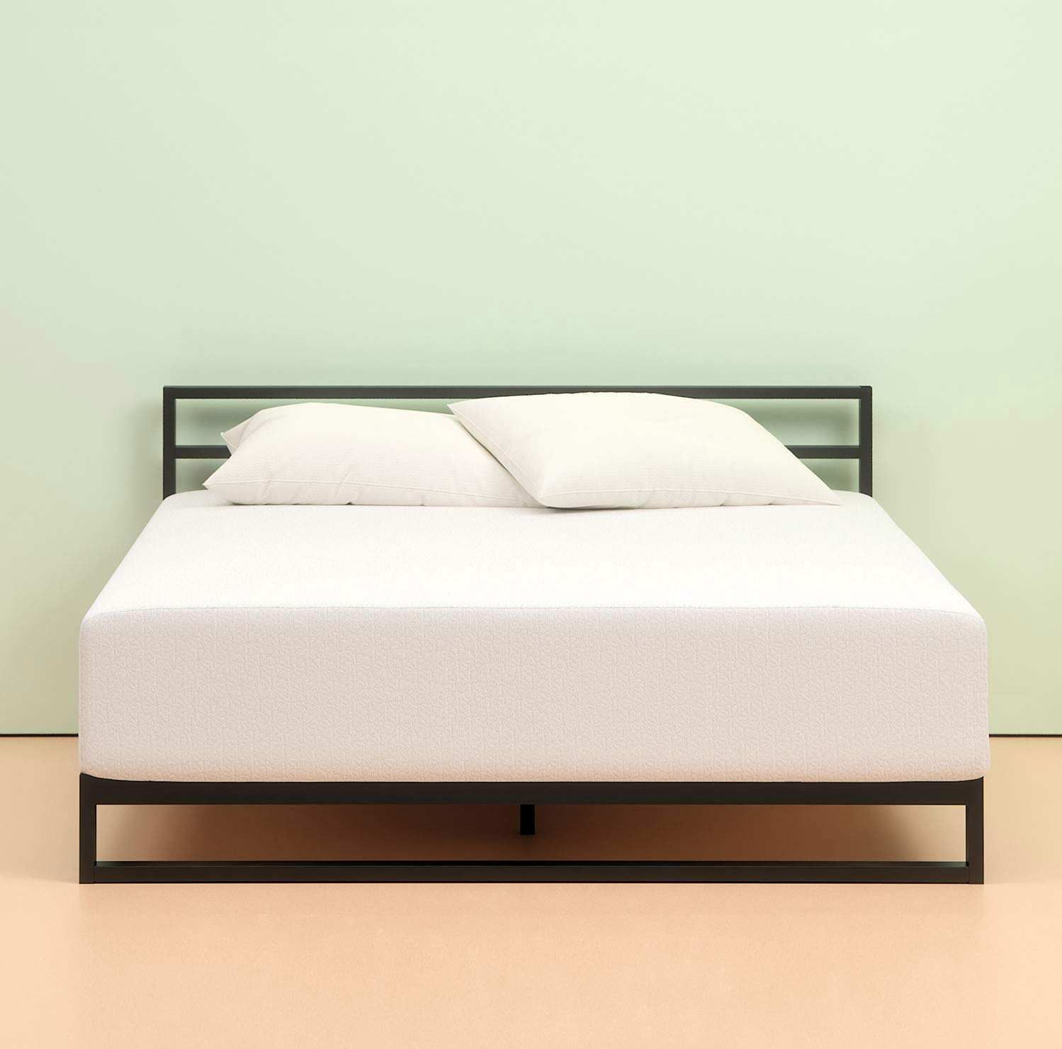 Smooth white plush foam mattress