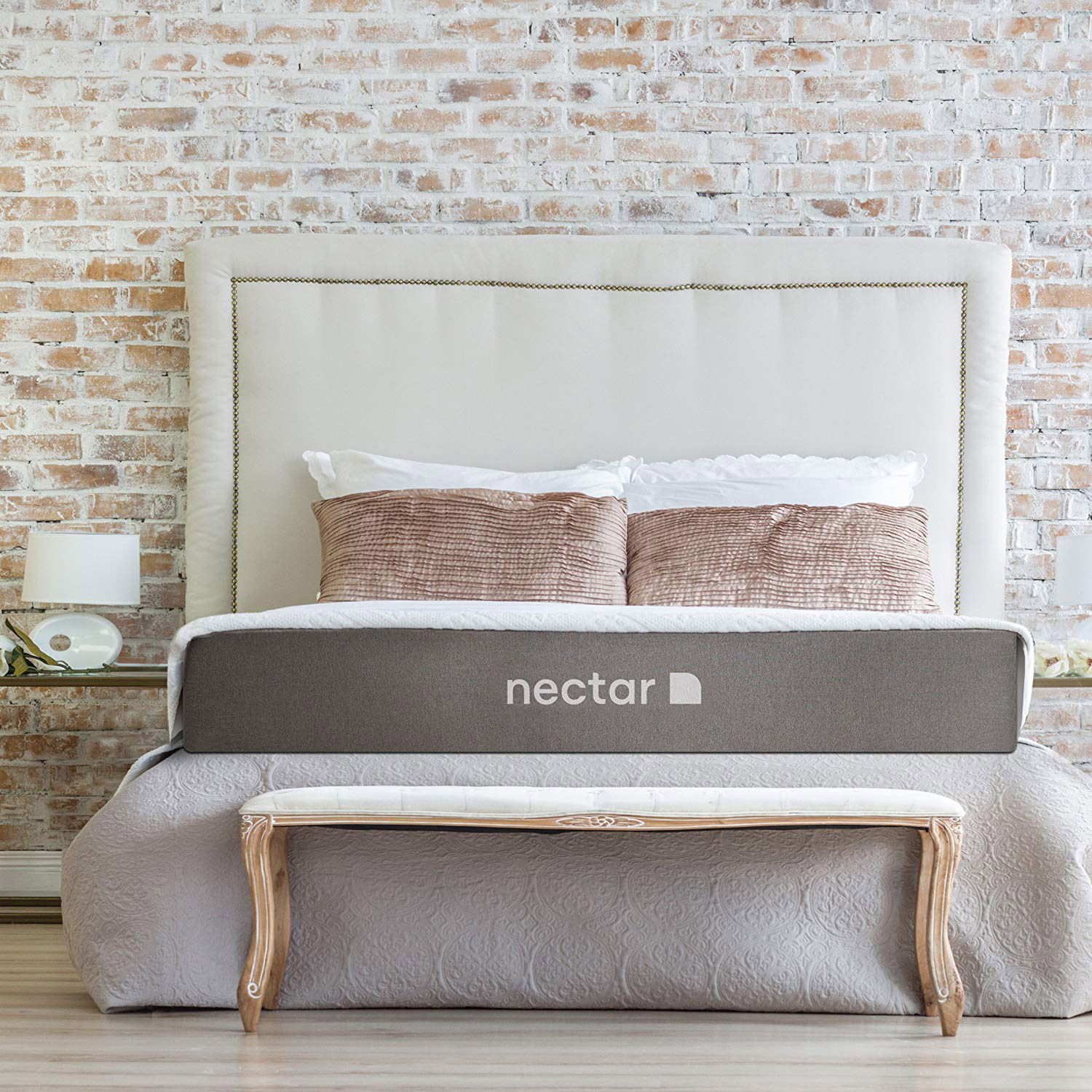 Sleek pillow top mattress and pillows