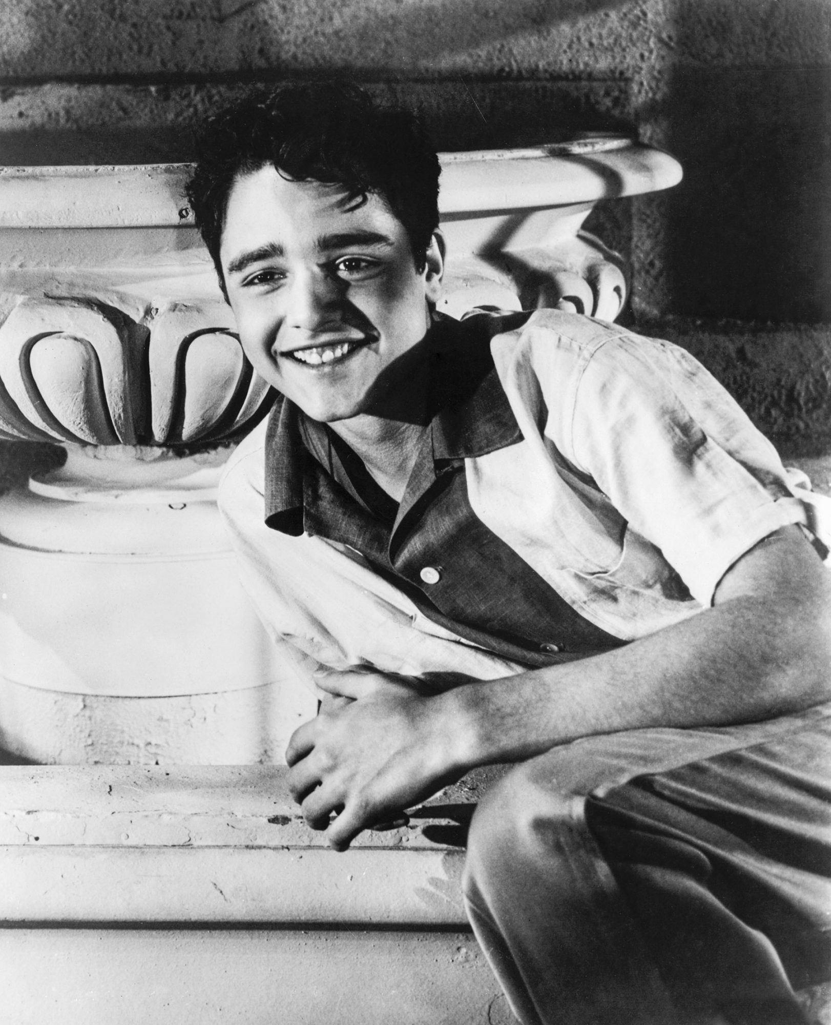 REBEL WITHOUT A CAUSE, Sal Mineo on the set, 1955