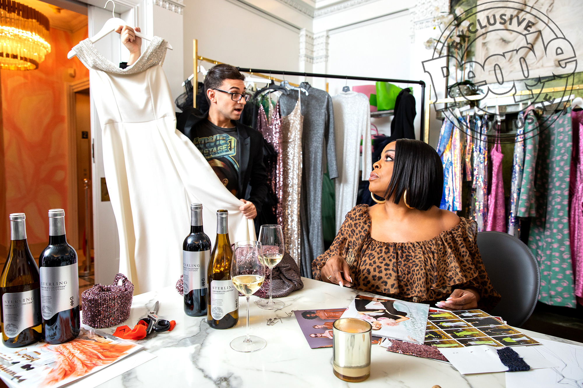Cristian Siriano Niecy Nash Fitting For Sterling Wines