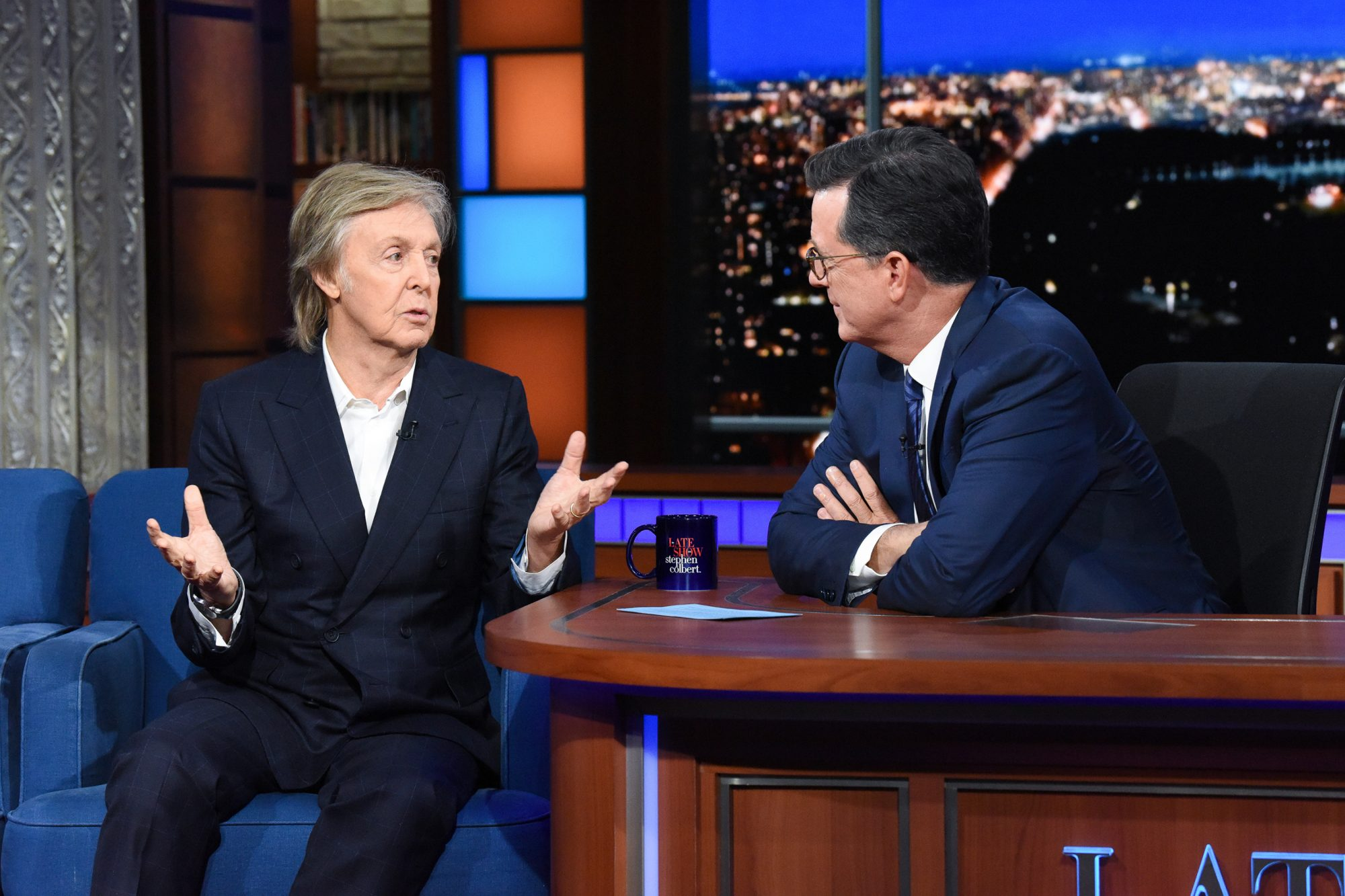 The Late Show with Stephen Colbert and guest Paul McCartney