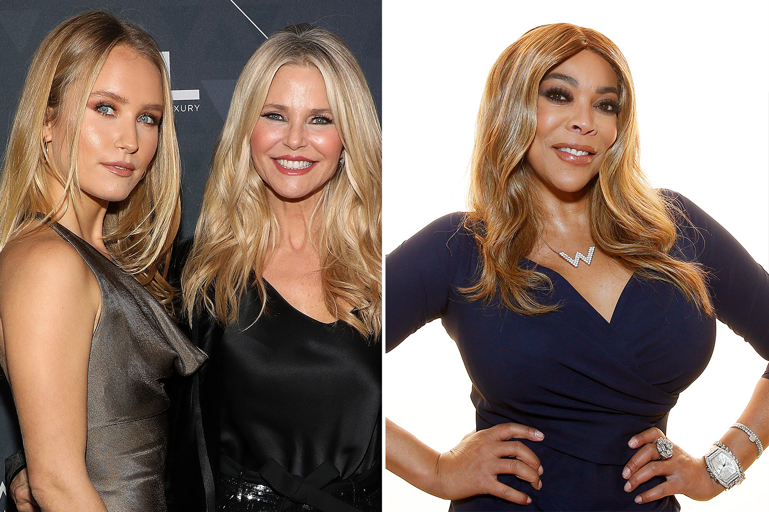 Sailor Brinkley-Cook and Christie Brinkley and Wendy Williams