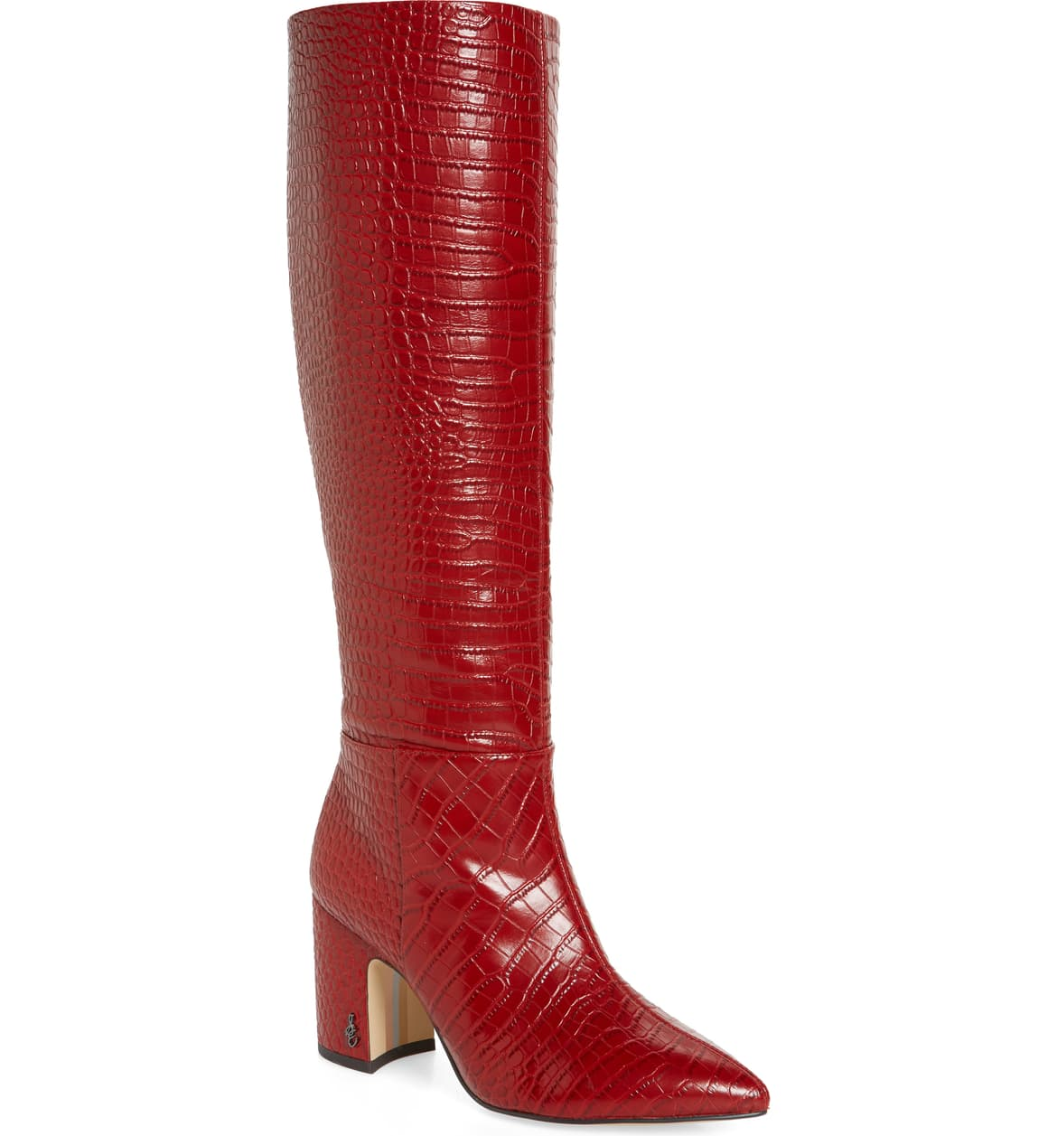 Nordstrom summer sale sam edelman red knee high leather boots