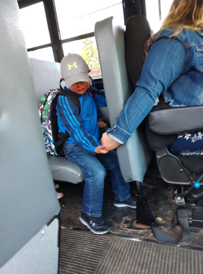 Augusta bus driver comforts student on first day of school