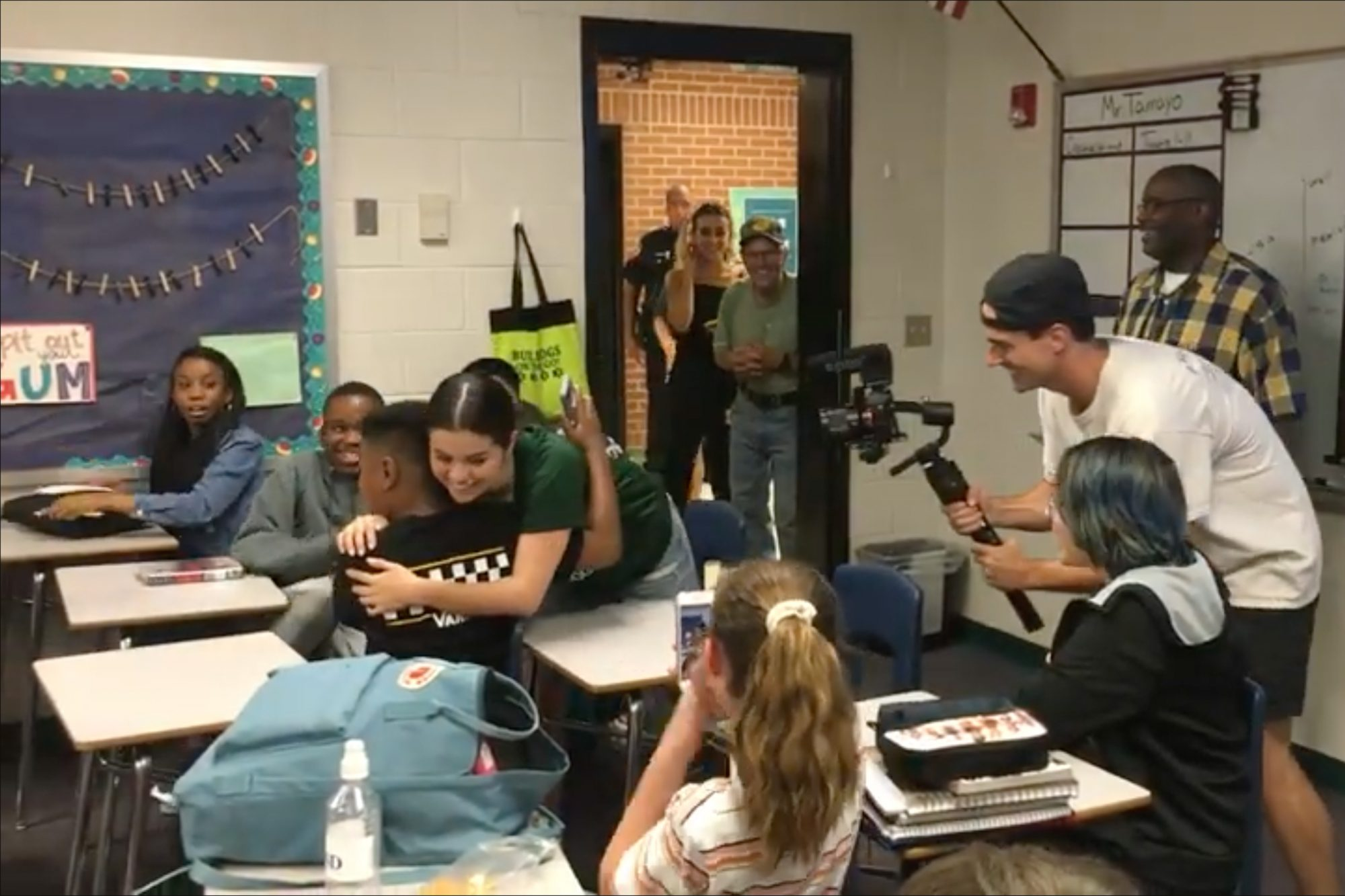 Selena Gomez Makes Surprise Visit at Former School
