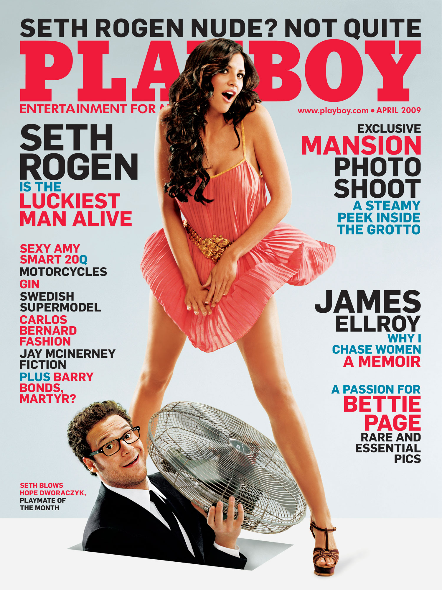 2009 April Cover Seth Rogen and Hope DworaczykPlayboy