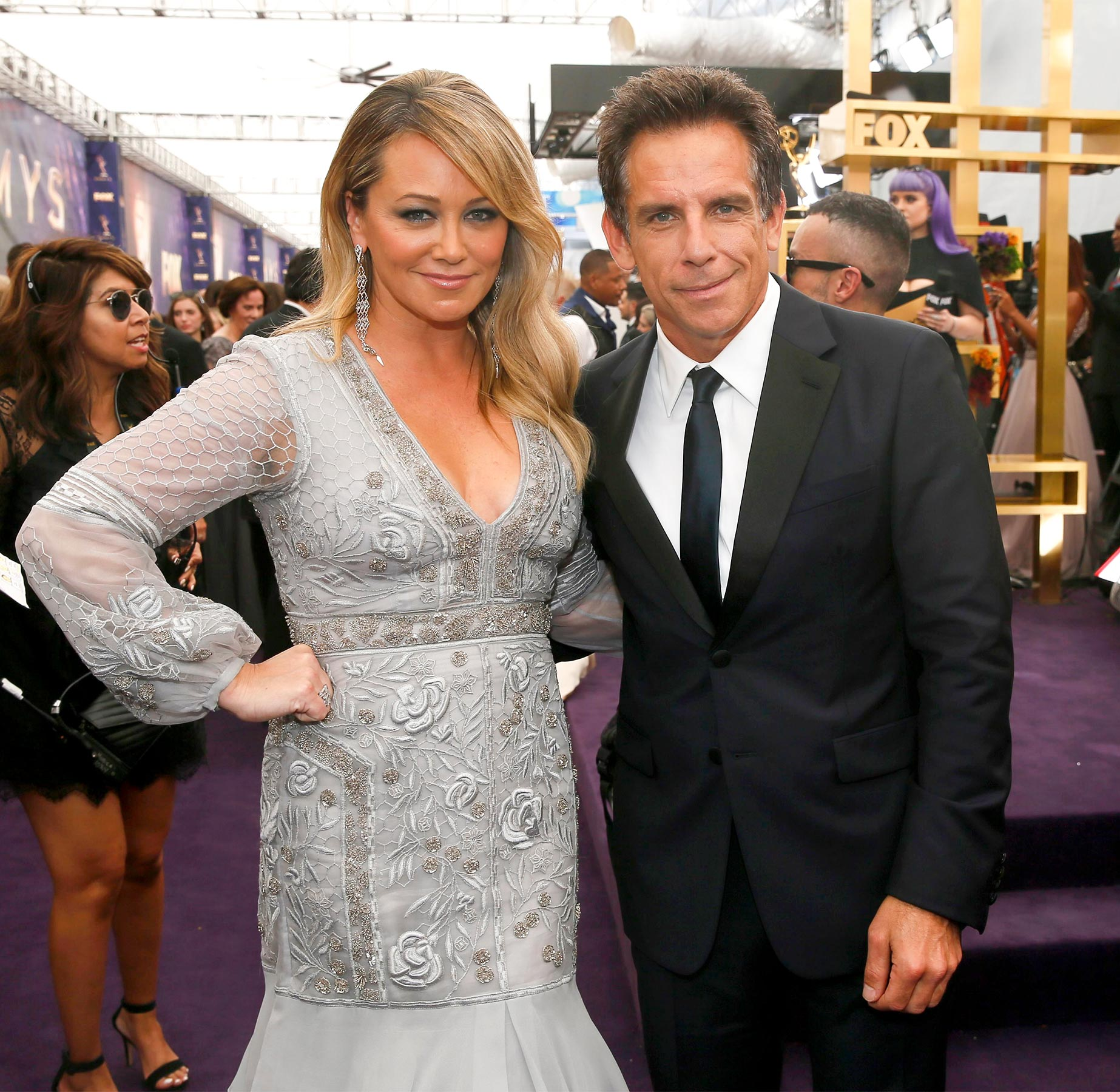 Christine Taylor and Ben Stiller arrive at the 71st Primetime Emmy Awards, at the Microsoft Theater in Los Angeles 71st Primetime Emmy Awards - Red Carpet, Los Angeles, USA - 22 Sep 2019