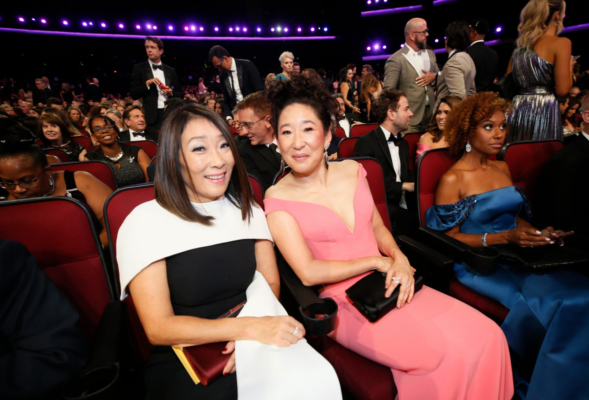 Sandra Oh and sister Grace Oh,