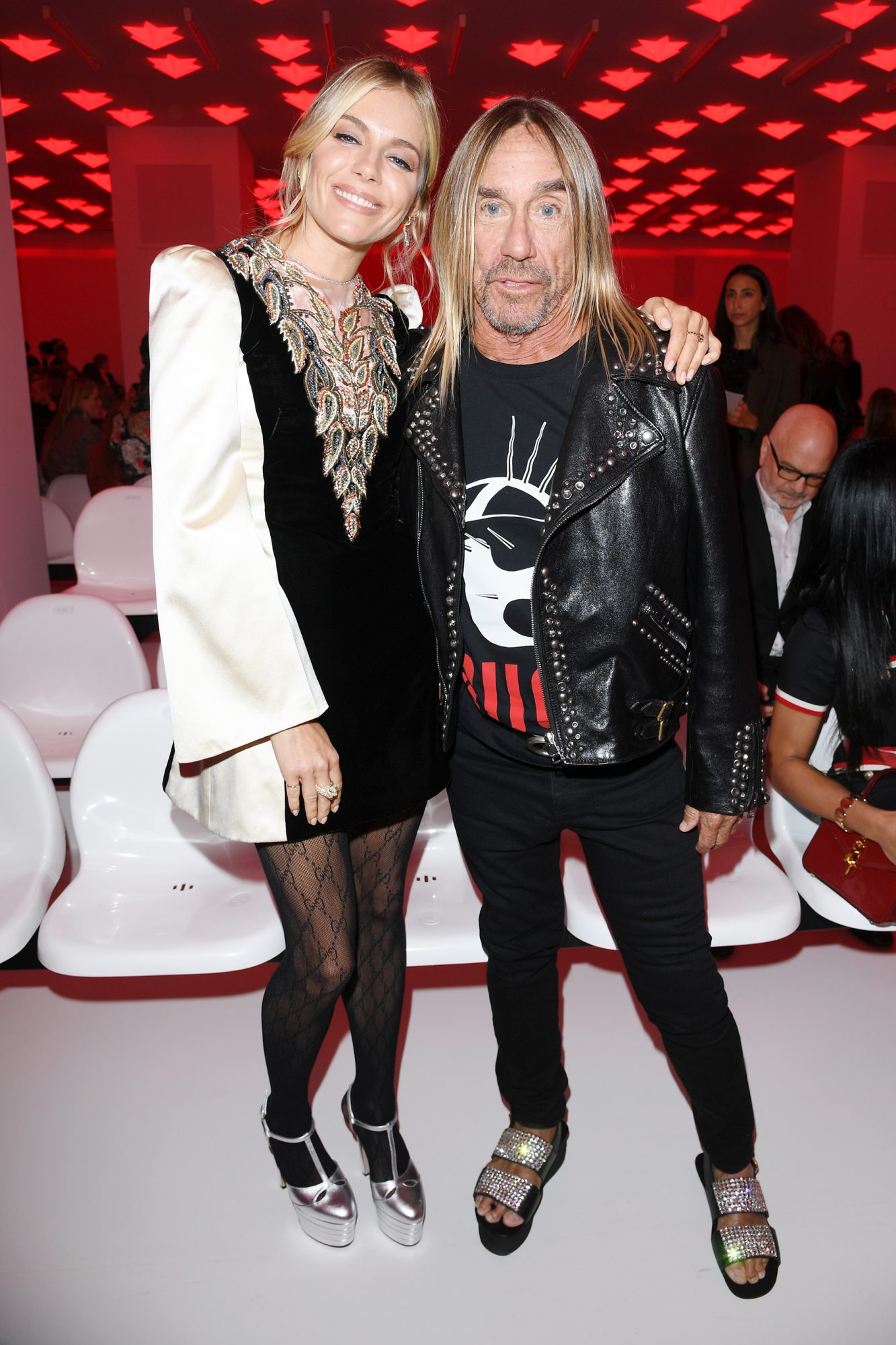 Sienna Miller and Iggy Pop