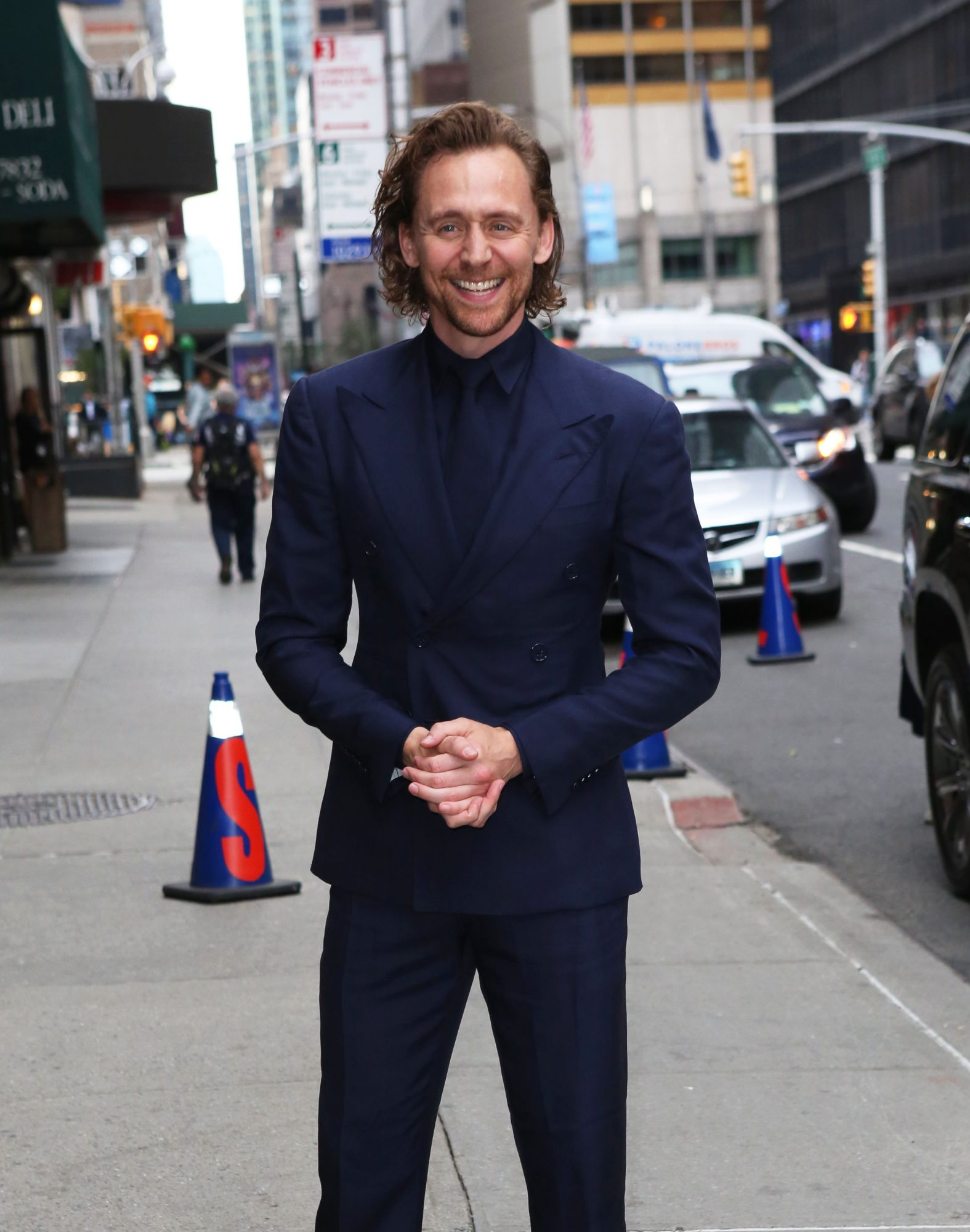 Tom Hiddleston Visits The Late Show With Stephen Colbert In NYC