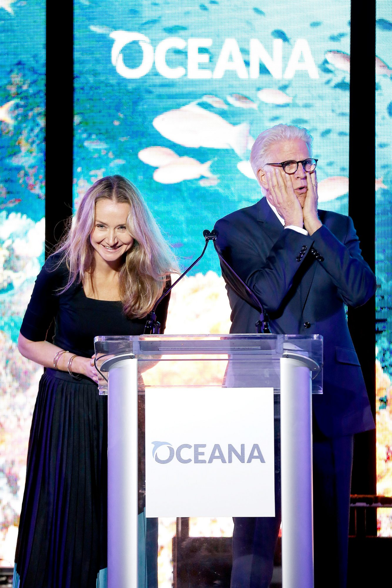 Ted Danson and Alexandra Cousteau