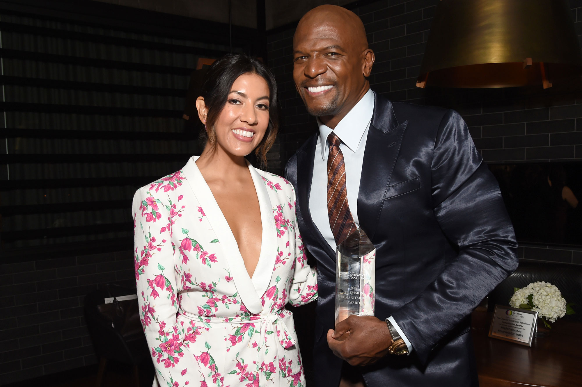 Stephanie Beatriz and Terry Crews