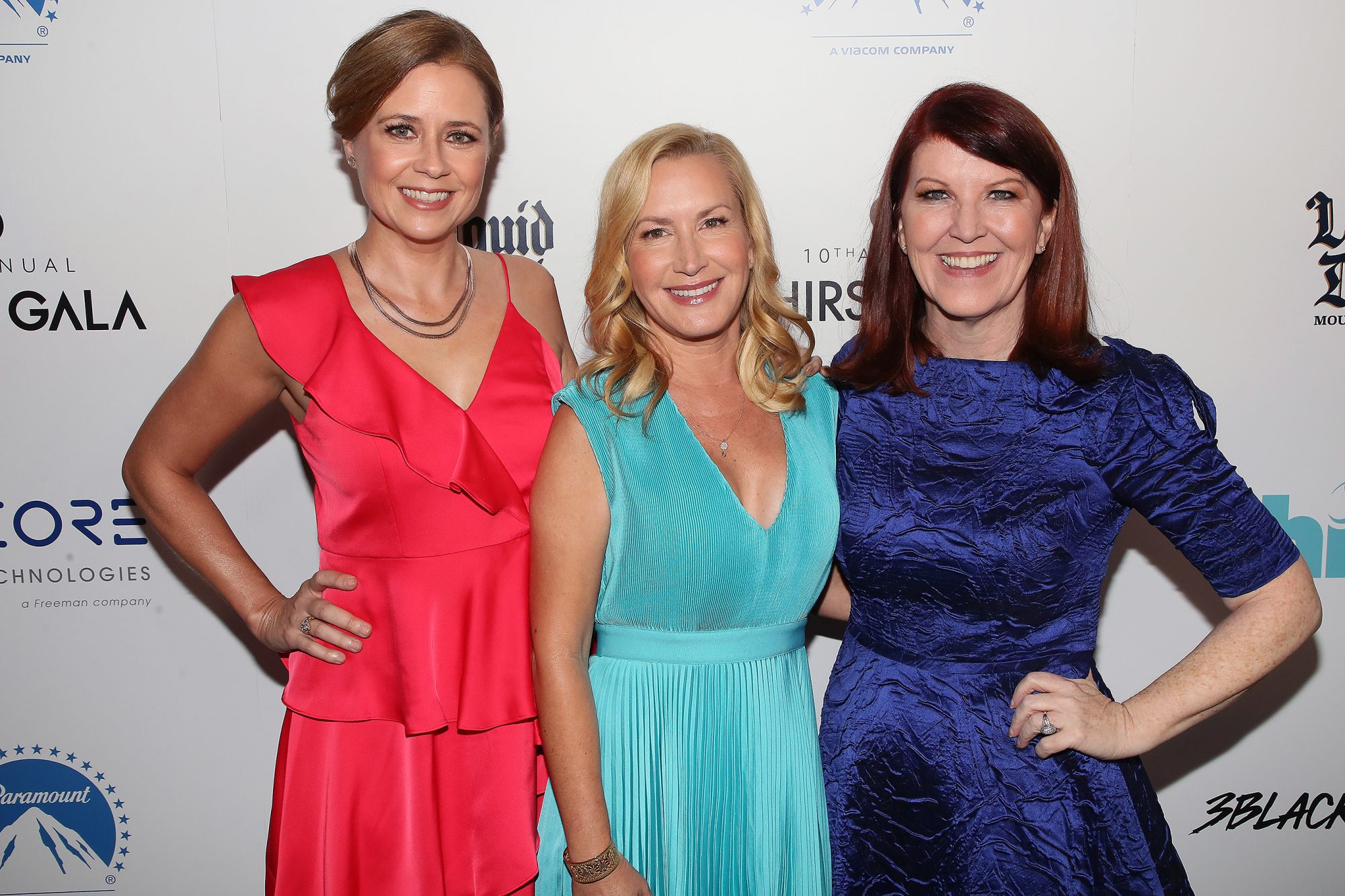 Kate Flannery, Host Angela Kinsey, and Jenna Fischer