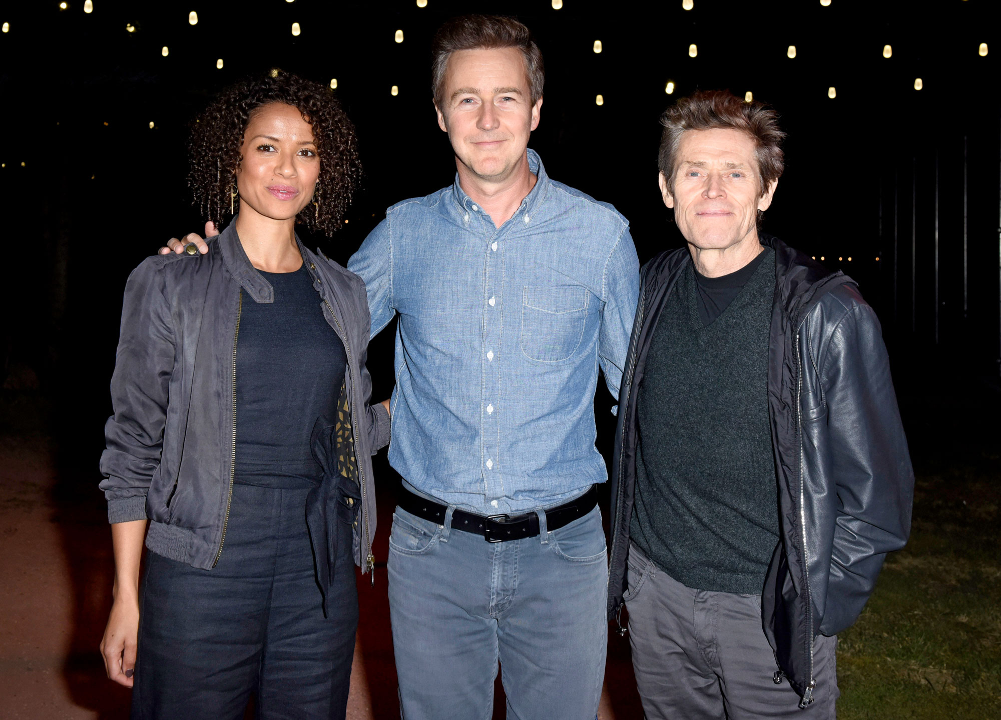 Gugu Mbatha-Raw, Edward Norton and Willem Dafoe