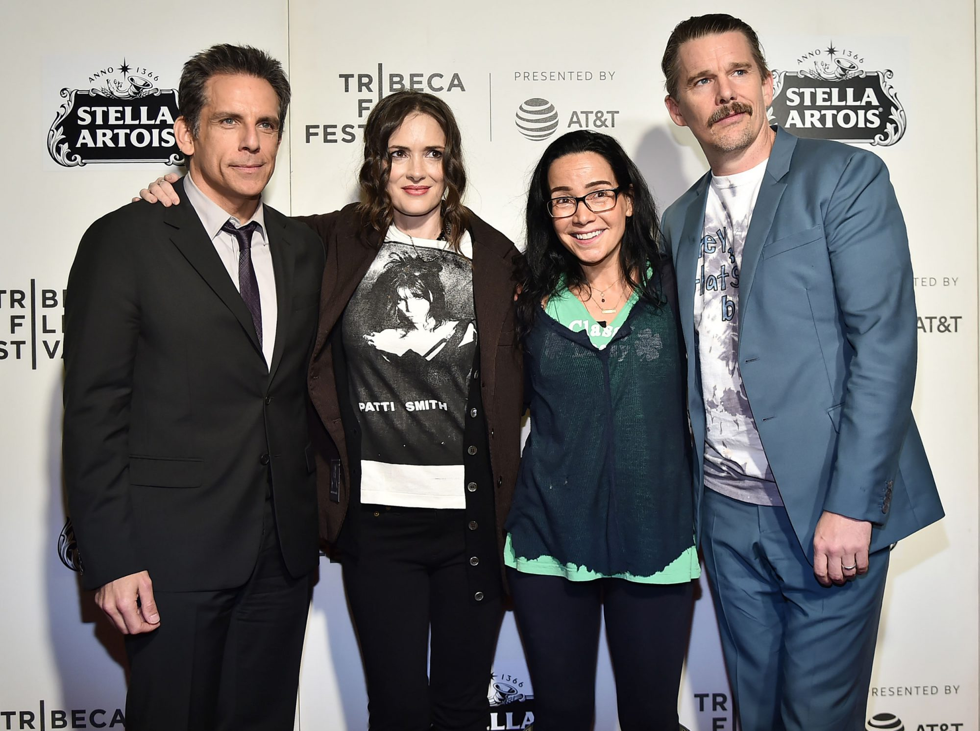Ben Stiller, Winona Ryder, Janeane Garofalo and Ethan Hawke reunited at the 25th-anniversary screening of Reality Bites at the Tribeca Film Festival.