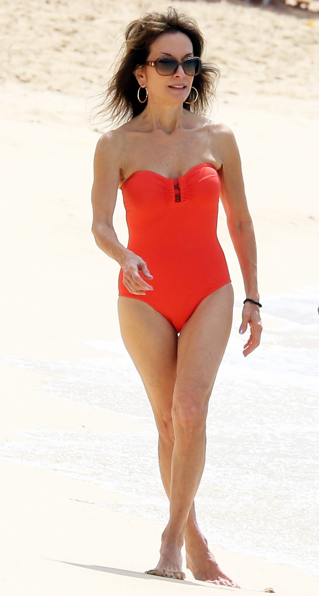 EXCLUSIVE: Actress Susan Lucci is pictured at the beach with husband Helmut Huber in Barbados.
