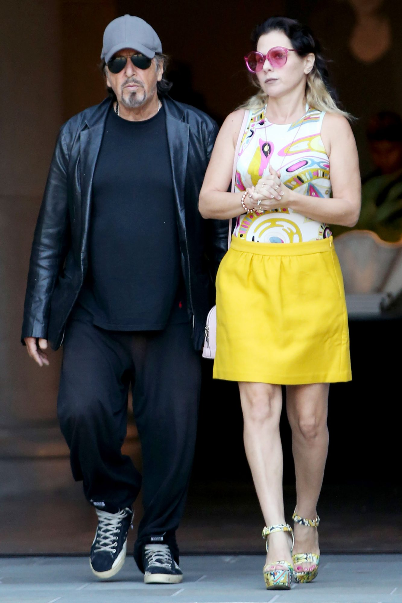 EXCLUSIVE: **NO WEB UNTIL 11:30am PST TUESDAY SEPT. 25TH... NO NY PAPERS***Al Pacino and Meital Dohan are spotted leaving Restoration Hardware furniture store in West Hollywood, California.