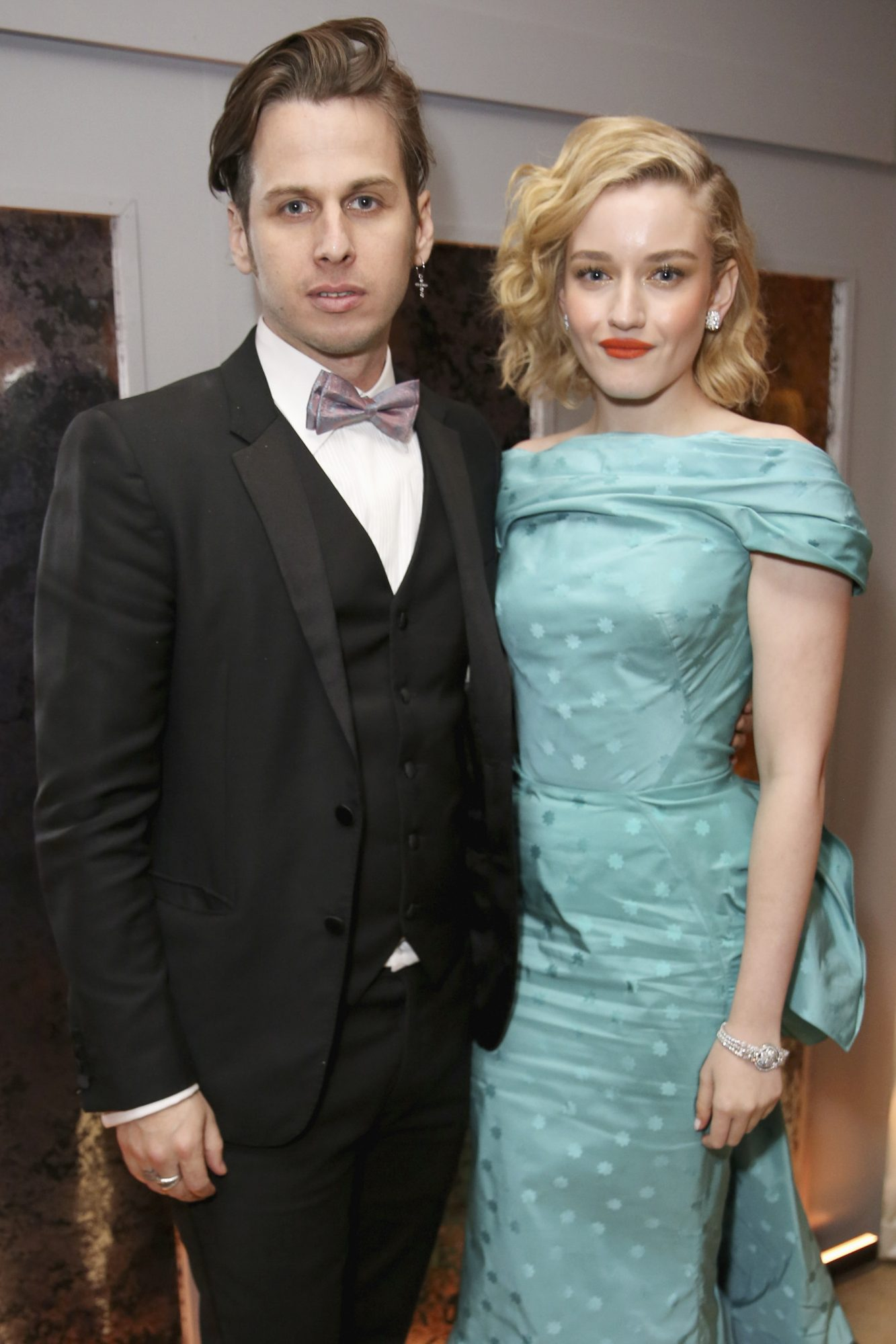 WEST HOLLYWOOD, CA - JANUARY 27: Mark Foster and Julia Garner attend Netflix 2019 SAG Awards after party at Sunset Tower Hotel on January 27, 2019 in West Hollywood, California. (Photo by Rachel Murray/Getty Images for Netflix)