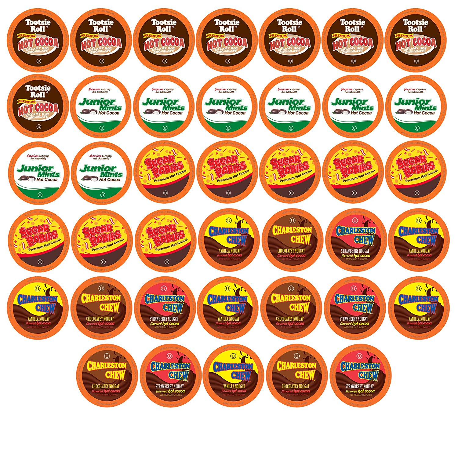 Tootsie Roll Candy Flavored Hot Cocoa Variety Pack for K-Cup Brewers on Amazon