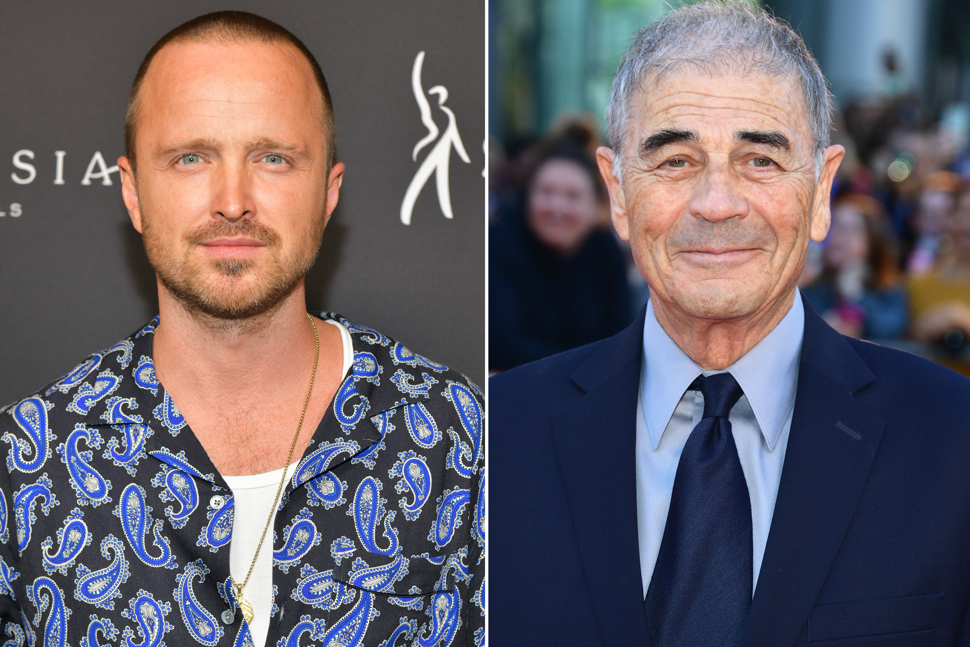 Aaron Paul and Robert Forster
