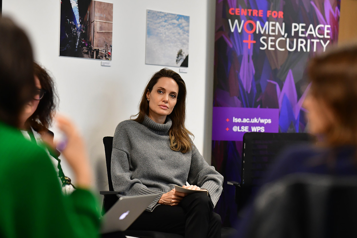 Angelina Jolie visits the Centre for Woman, Peace Security at the LSE