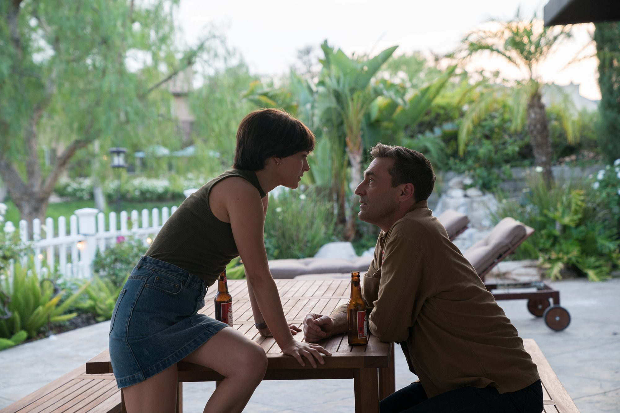 Natalie Portman and Jon Hamm in the film LUCY IN THE SKY