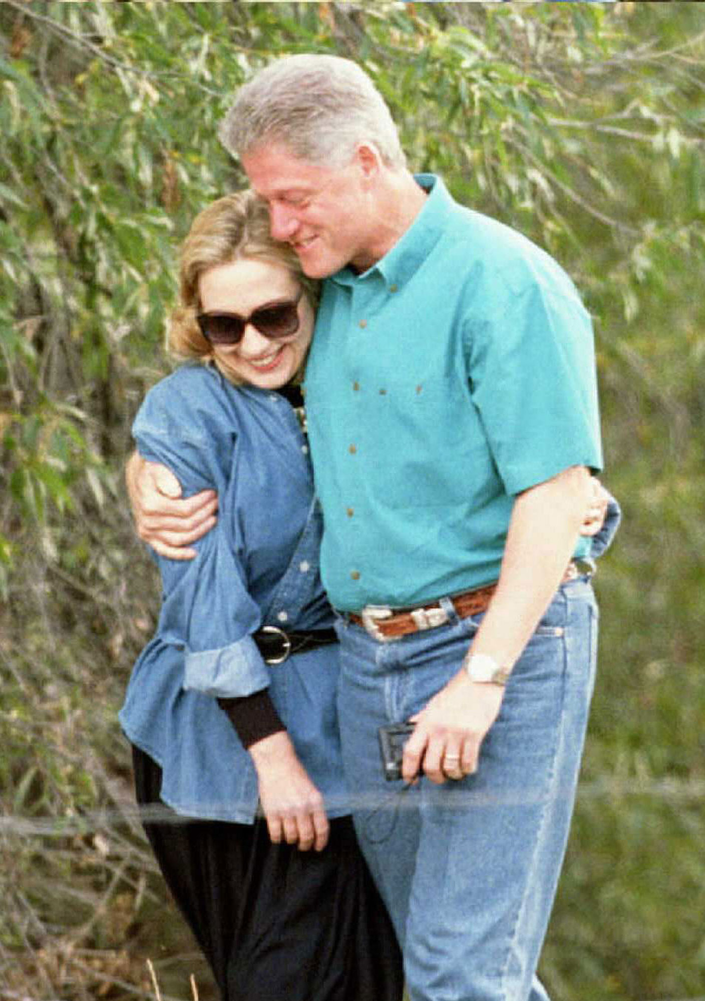 US President Bill Clinton and First Lady Hillary C