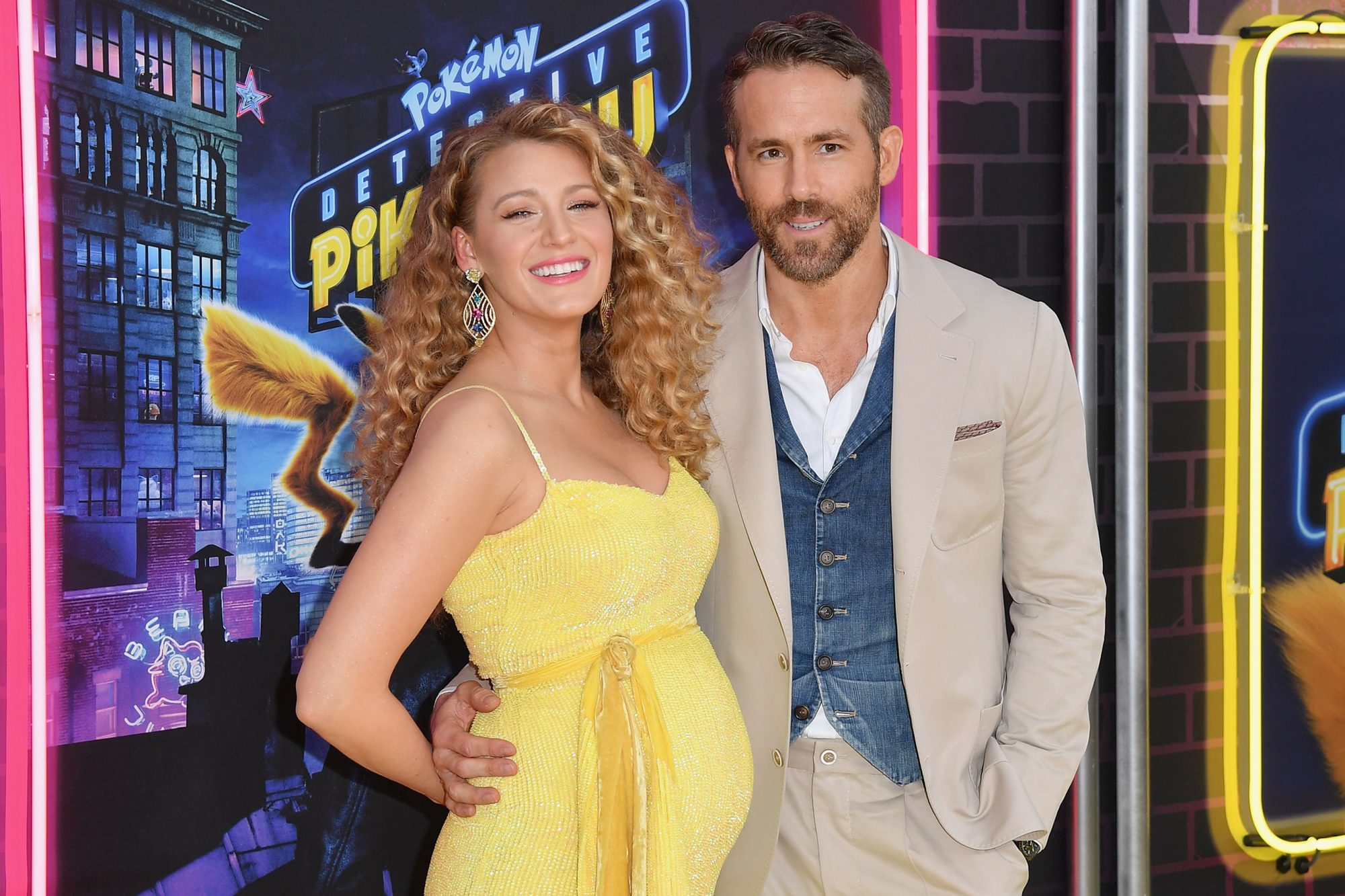 "Blake Lively and Ryan Reynold premiere of ""Pokemon Detective Pikachu"