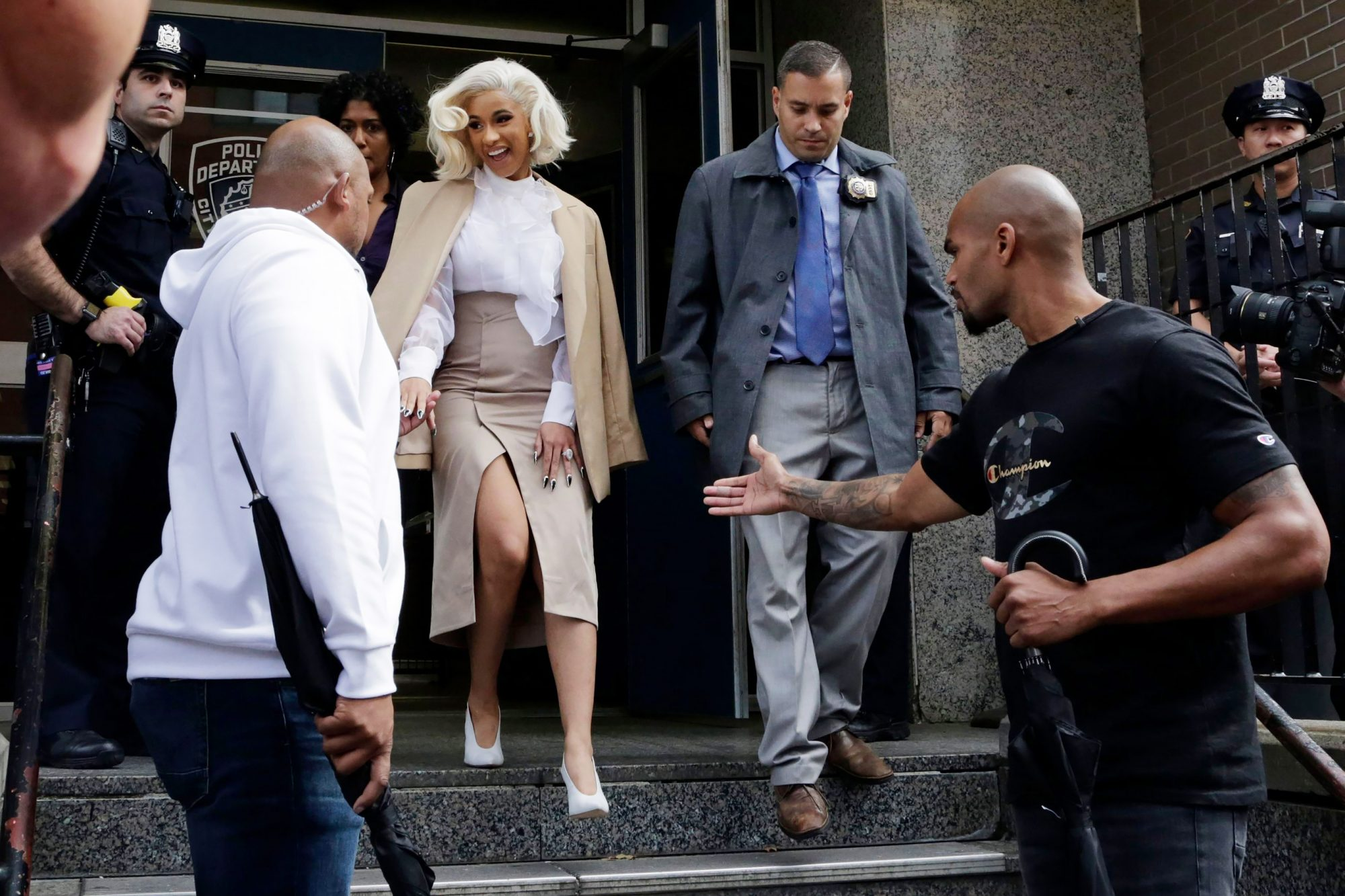 Cardi B Strip Club Fracas, New York, USA - 01 Oct 2018