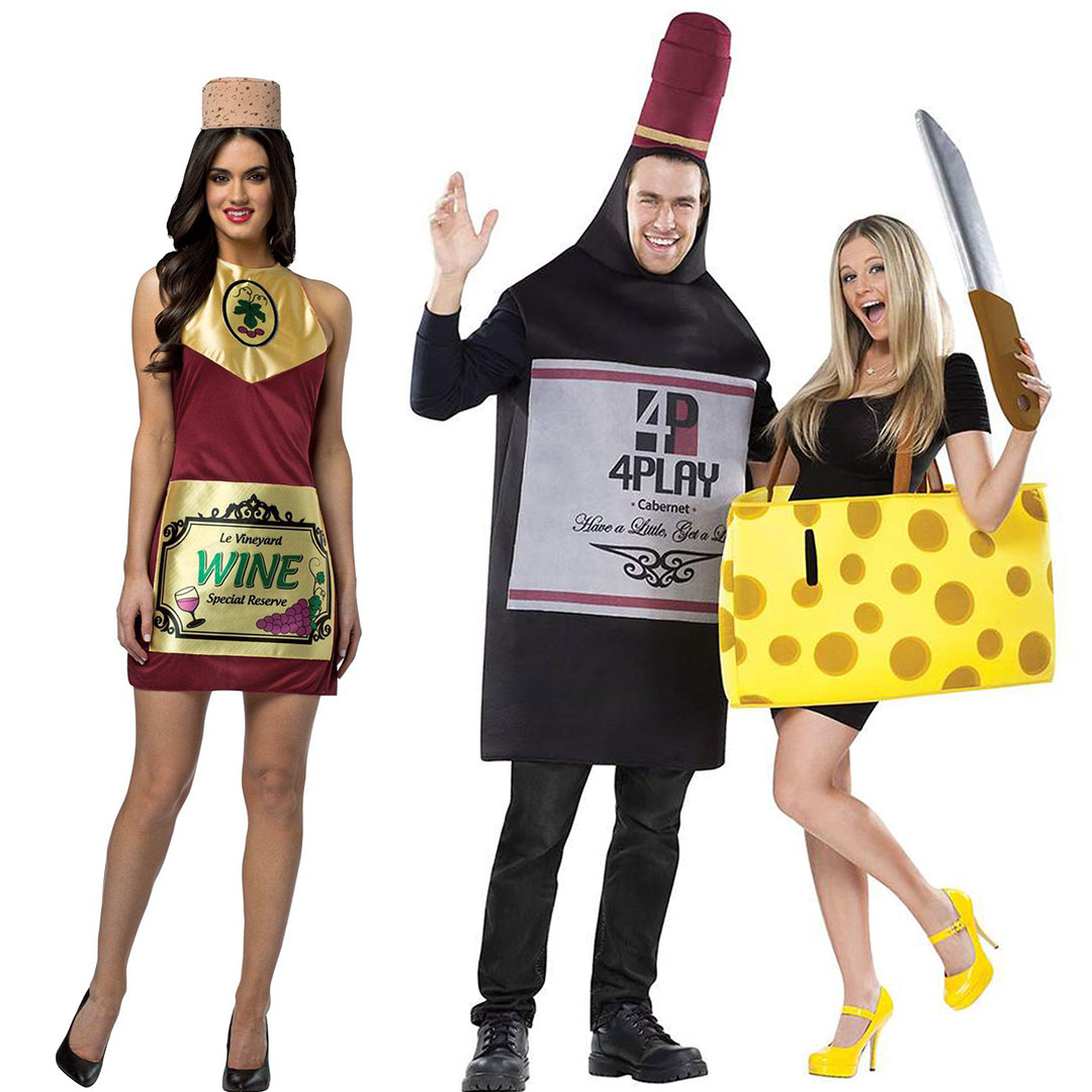 wine last minute halloween costumes