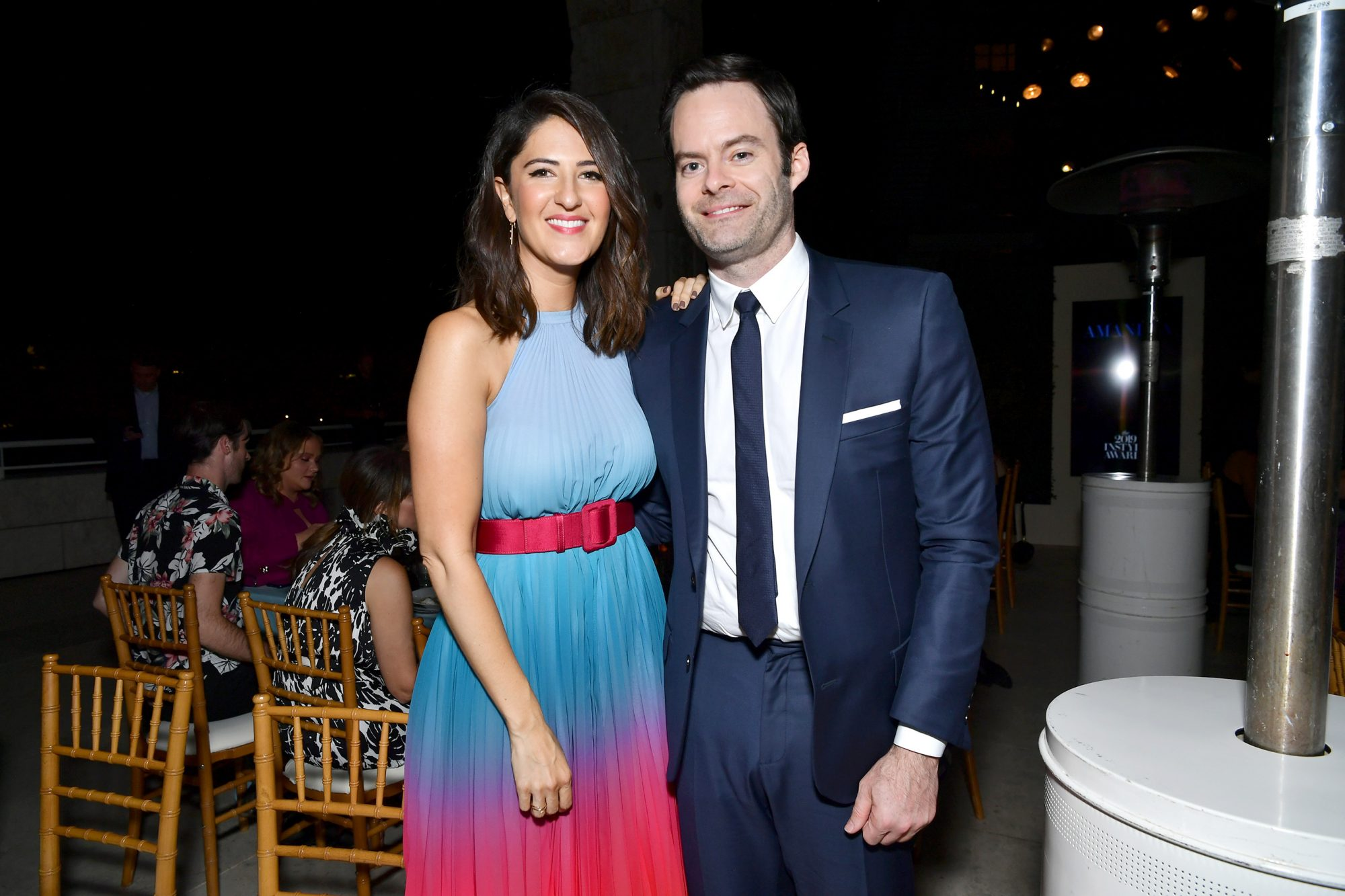 D'Arcy Carden and Bill Hader