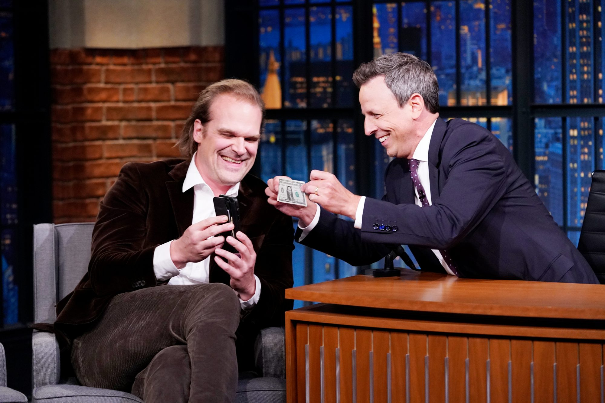 David Harbour LATE NIGHT WITH SETH MEYERS