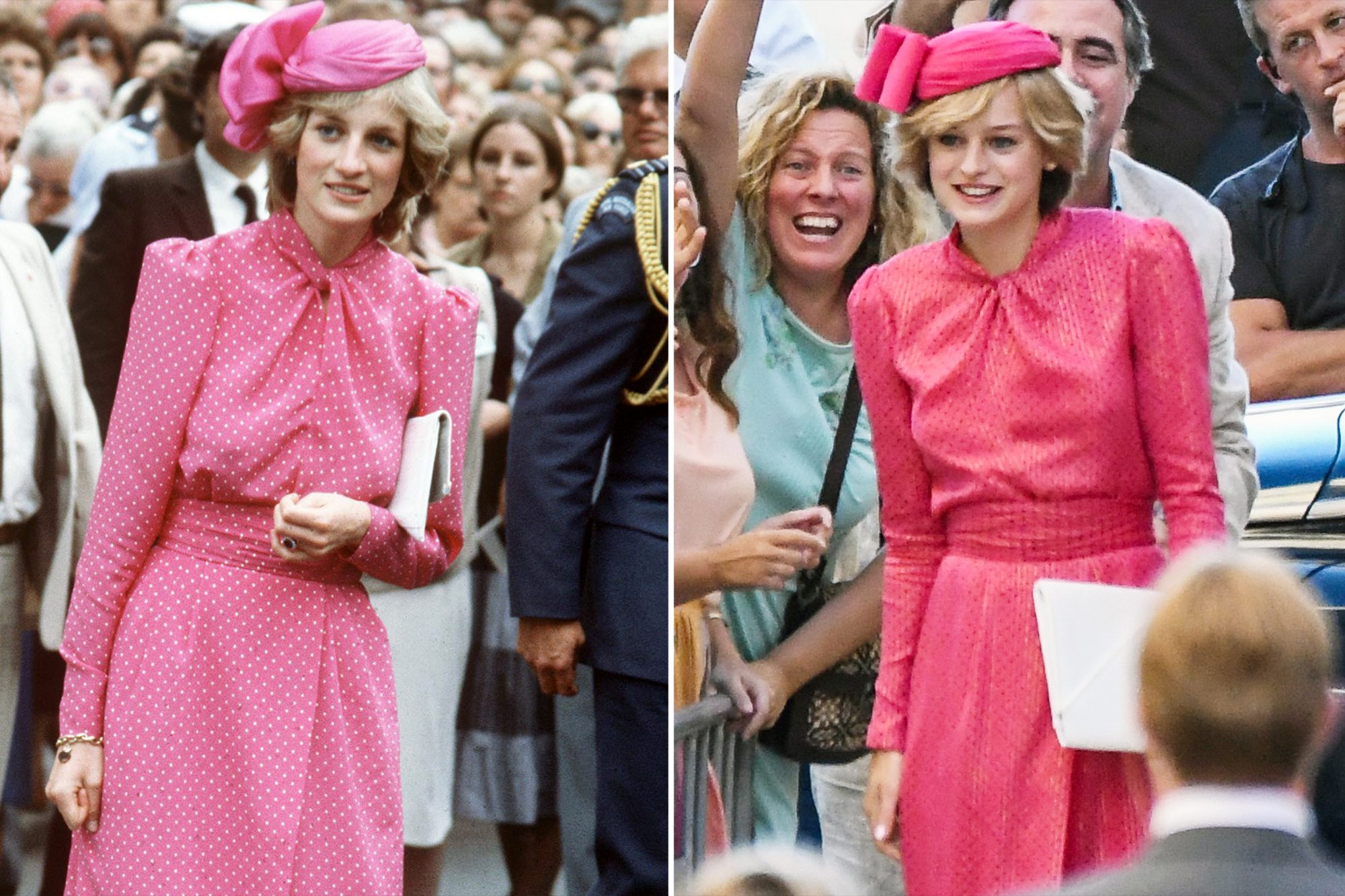 See Princess Diana's Best Looks Replicated by <i>The Crown</i>'s Emma Corrin  Side-by-Side | PEOPLE.com