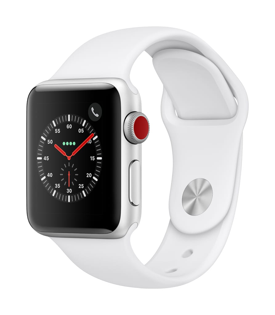 Apple Watch Series 3 GPS + Cellular in White at Walmart